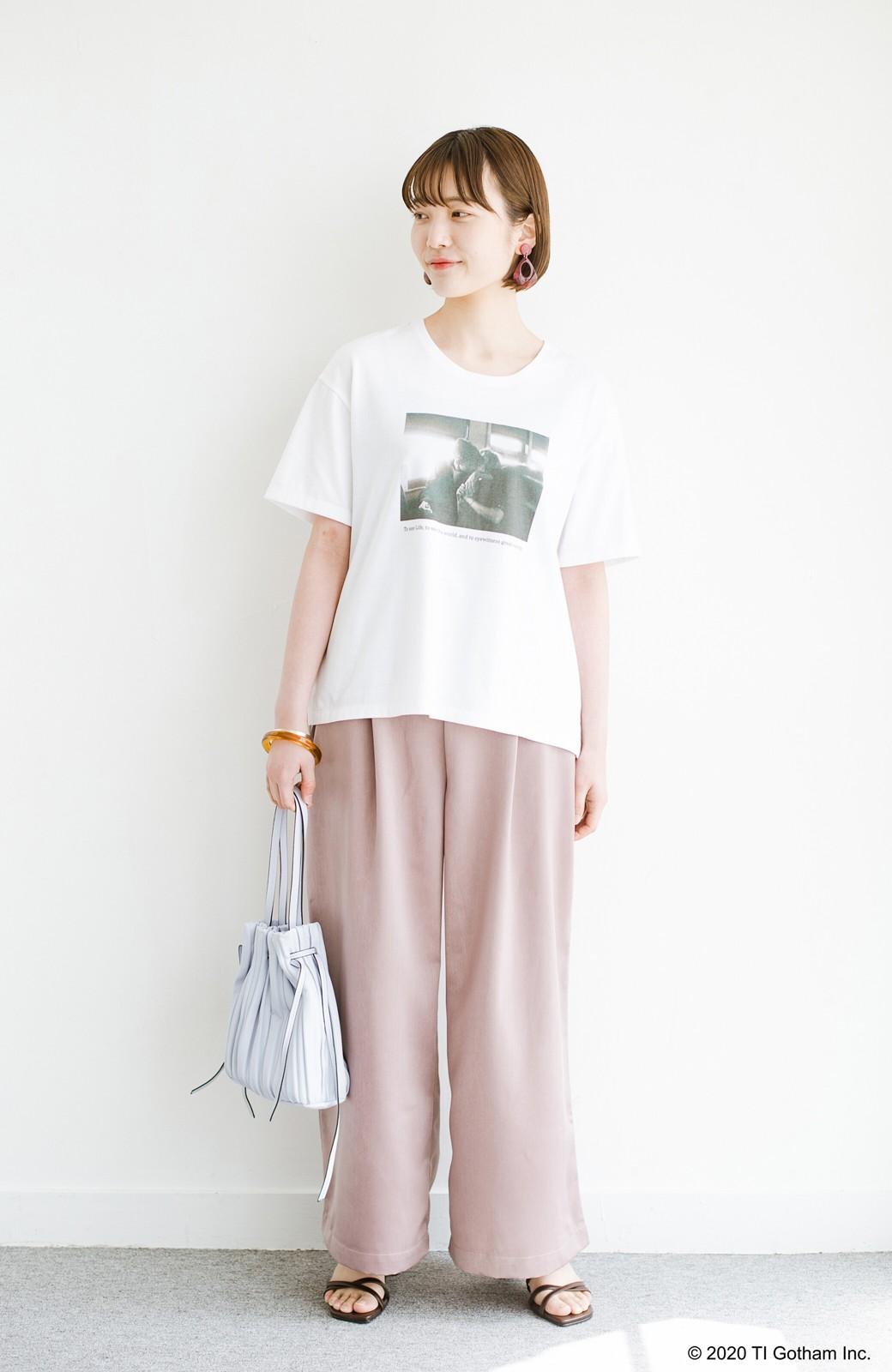 haco! フォトマガジン「LIFE」コラボ 大人のためのしなやかフォトプリントTシャツ <ホワイト>の商品写真7