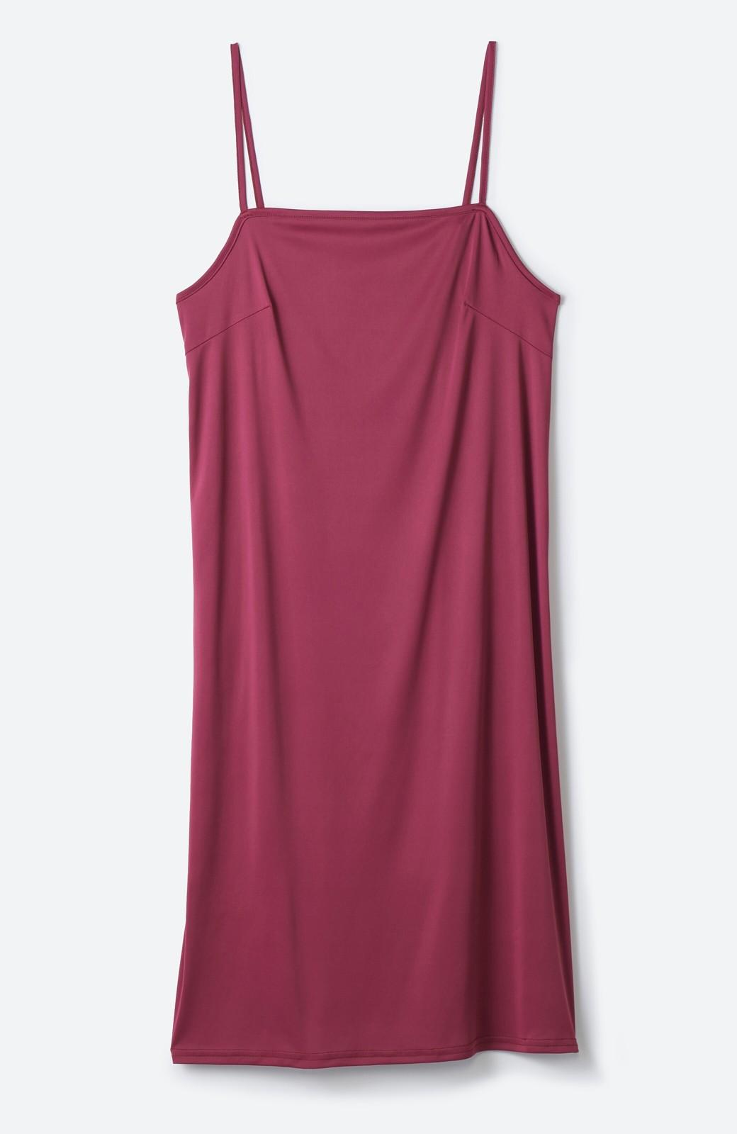 haco! バレずにとことん楽できる 羽織りとしても使える軽やかシャツワンピース <レッド>の商品写真3
