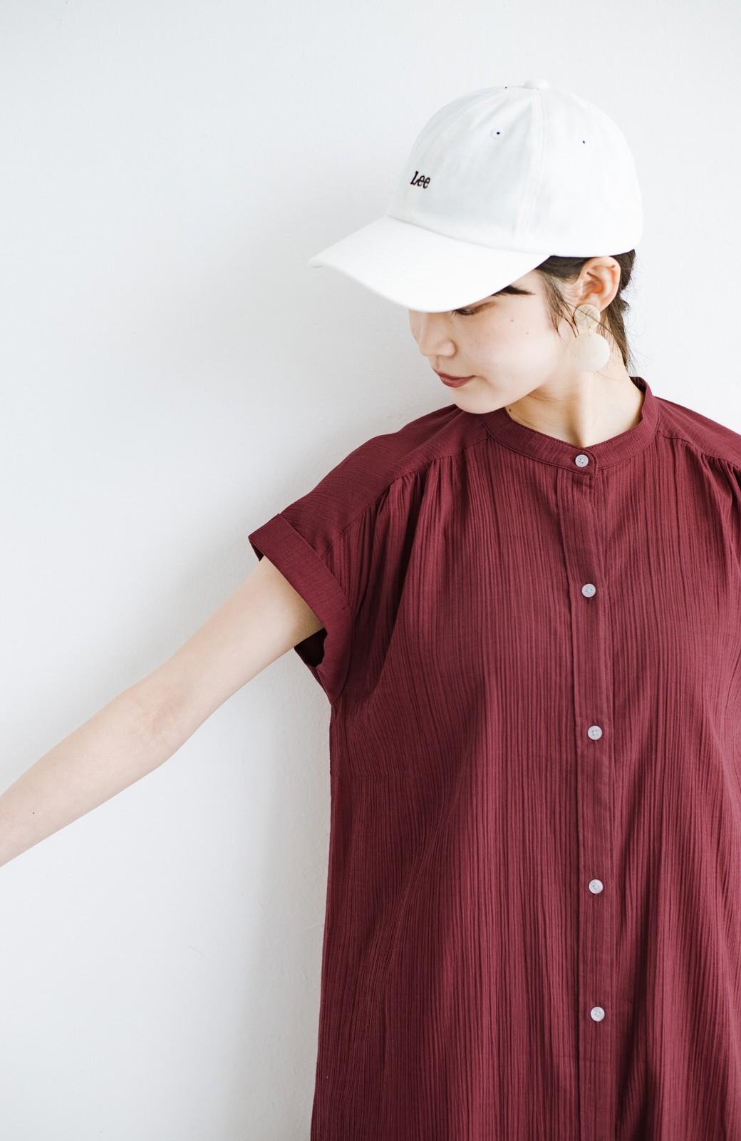 haco! バレずにとことん楽できる 羽織りとしても使える軽やかシャツワンピース <レッド>の商品写真7