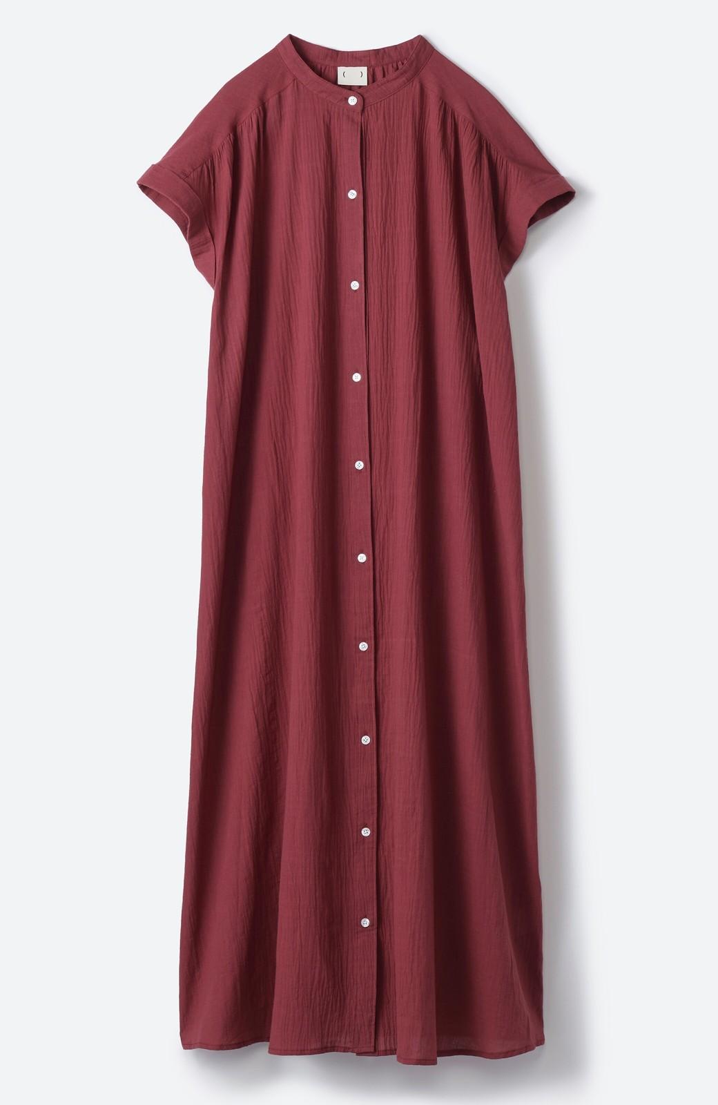 haco! バレずにとことん楽できる 羽織りとしても使える軽やかシャツワンピース <レッド>の商品写真21