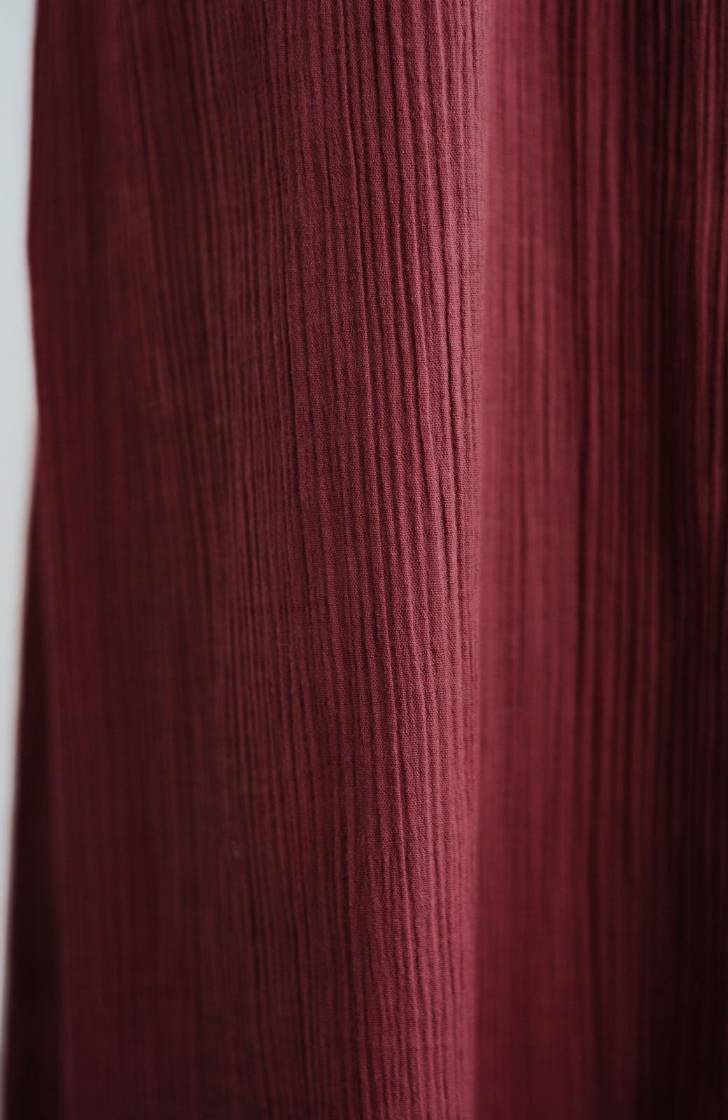 haco! バレずにとことん楽できる 羽織りとしても使える軽やかシャツワンピース <レッド>の商品写真4