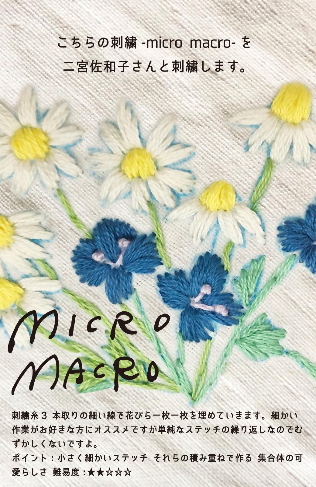 haco! haco! [haco! POST] 刺繍アーティスト二宮佐和子さんとみんなでワイワイ刺繍!zoom縫いワークショップ参加チケット 6/21・6/24開催<micro macro> <その他>の商品写真2