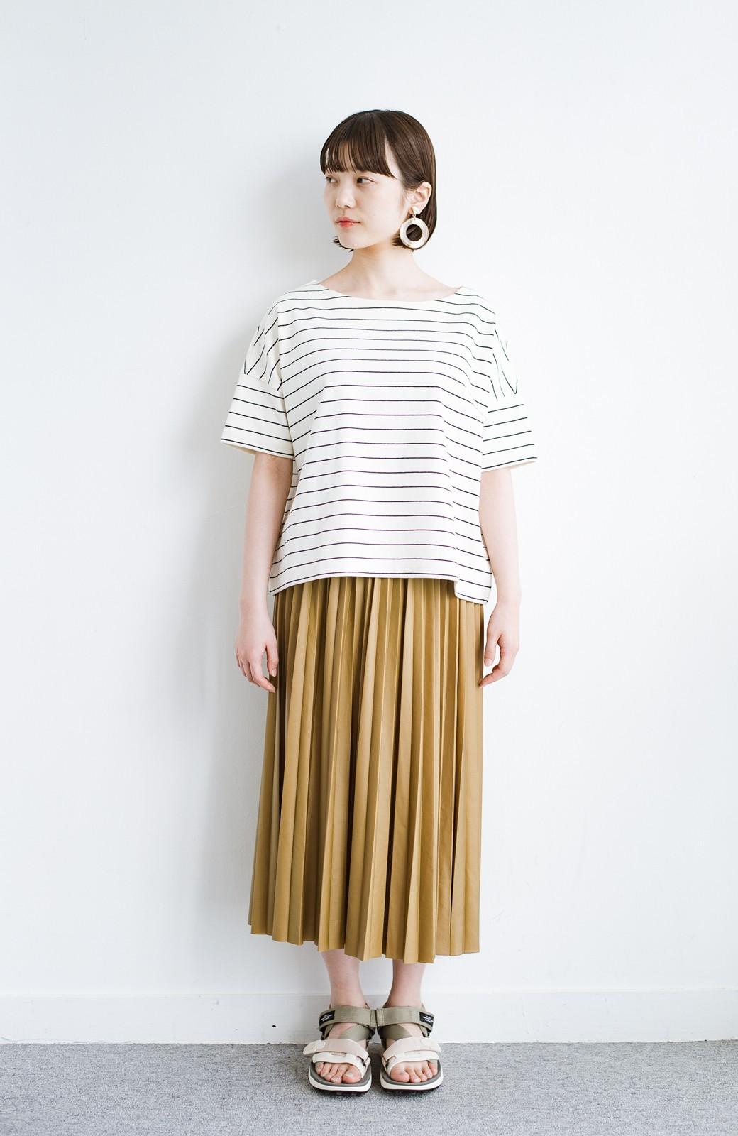 haco! コーデが一気に引き締まるフェイクレザー風プリーツスカート by laulea  <マスタード>の商品写真11