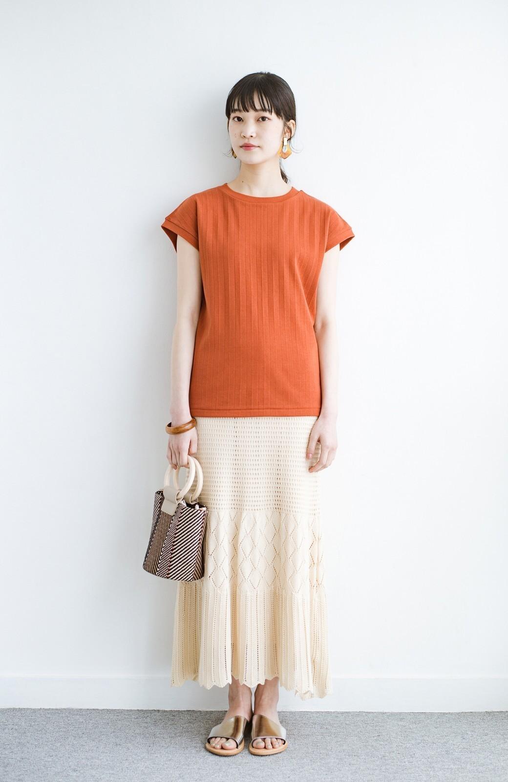 haco! 単品はもちろん重ね着してもかわいさが増す!透かし編みマーメイドスカート <アイボリー>の商品写真18