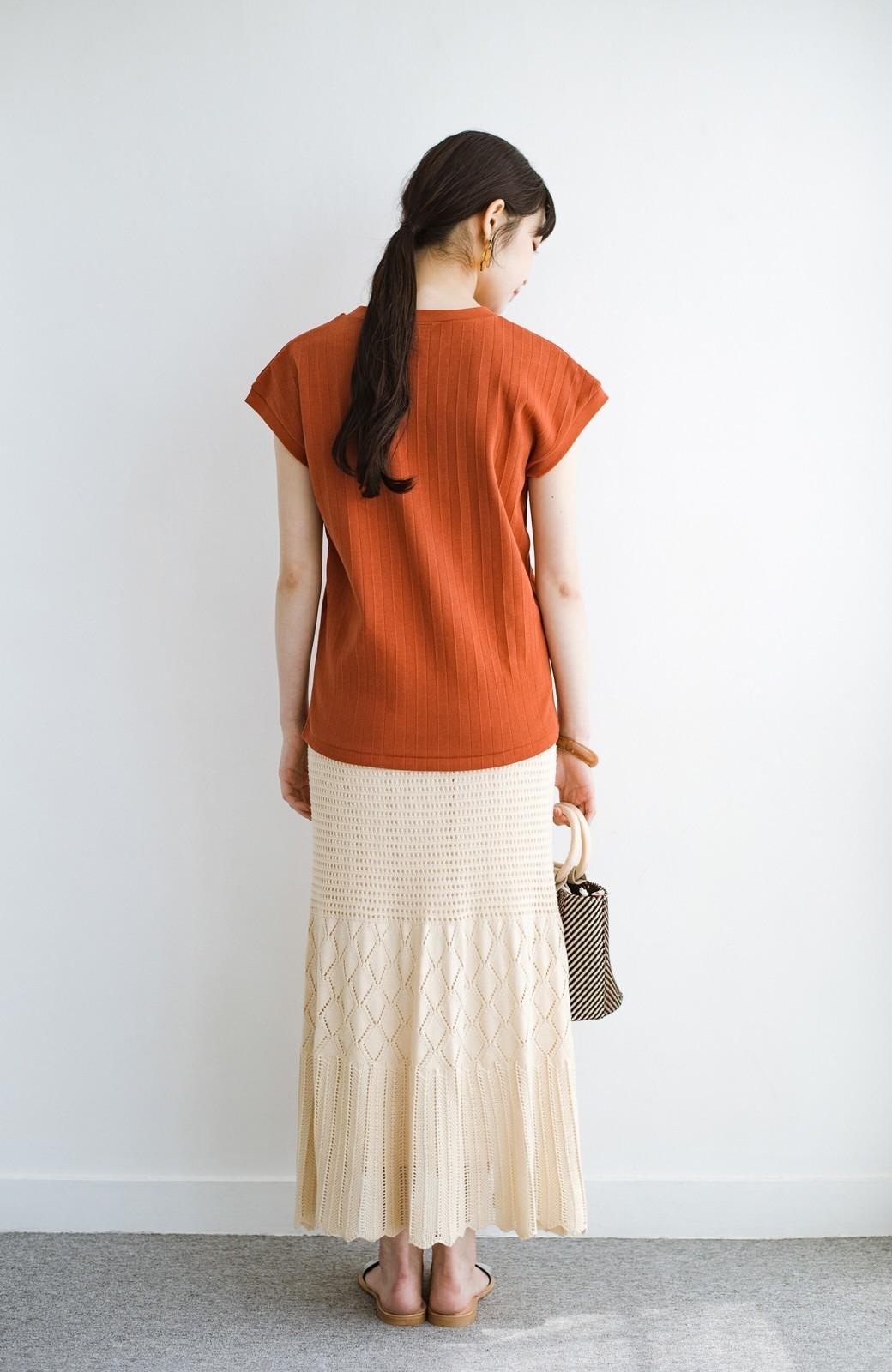 haco! 単品はもちろん重ね着してもかわいさが増す!透かし編みマーメイドスカート <アイボリー>の商品写真20