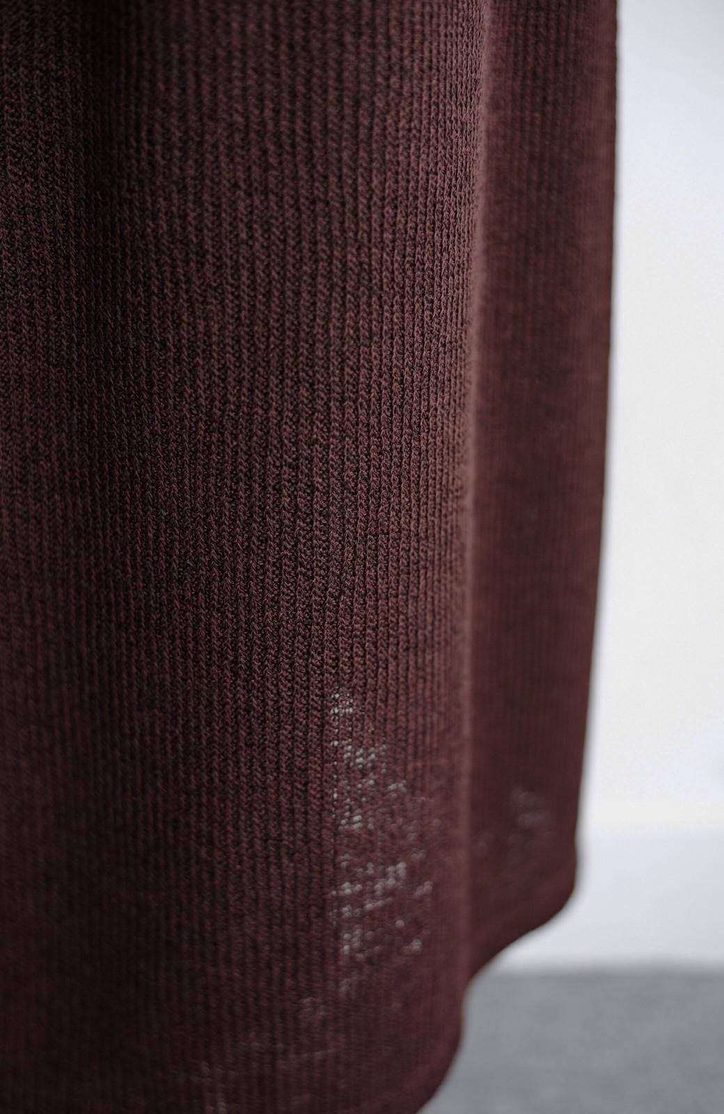 haco! 合わせて着るだけで今っぽかわいい シンプルTシャツ&カシュクールキャミワンピースセット <ダークブラウン>の商品写真6