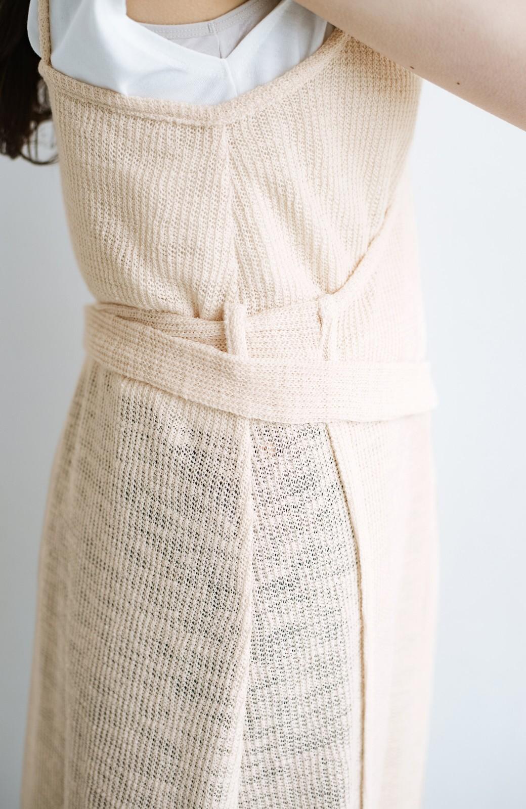 haco! 合わせて着るだけで今っぽかわいい シンプルTシャツ&カシュクールキャミワンピースセット <ライトベージュ>の商品写真6