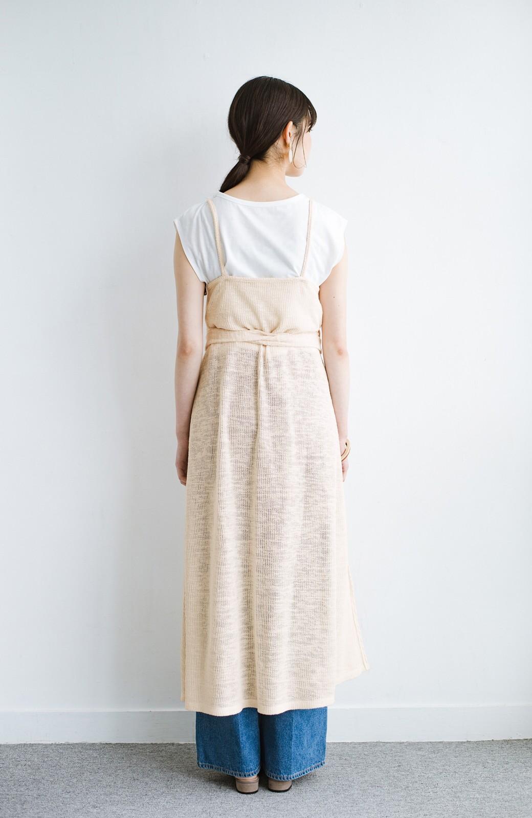 haco! 合わせて着るだけで今っぽかわいい シンプルTシャツ&カシュクールキャミワンピースセット <ライトベージュ>の商品写真14