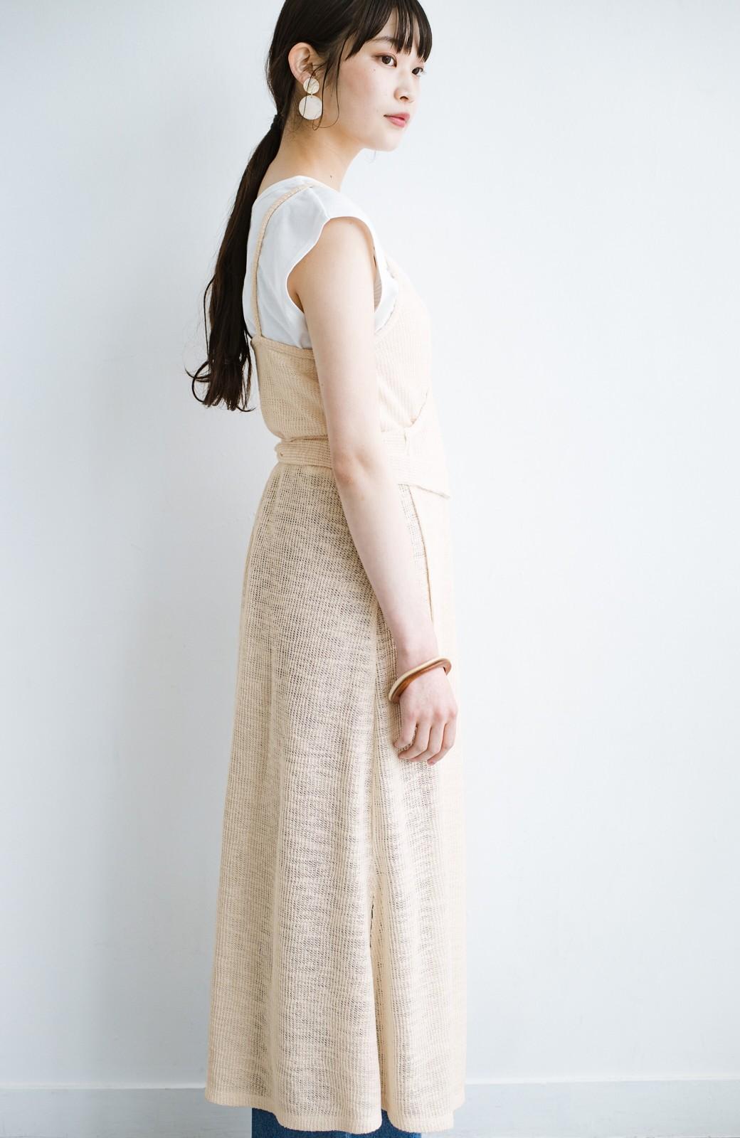 haco! 合わせて着るだけで今っぽかわいい シンプルTシャツ&カシュクールキャミワンピースセット <ライトベージュ>の商品写真17