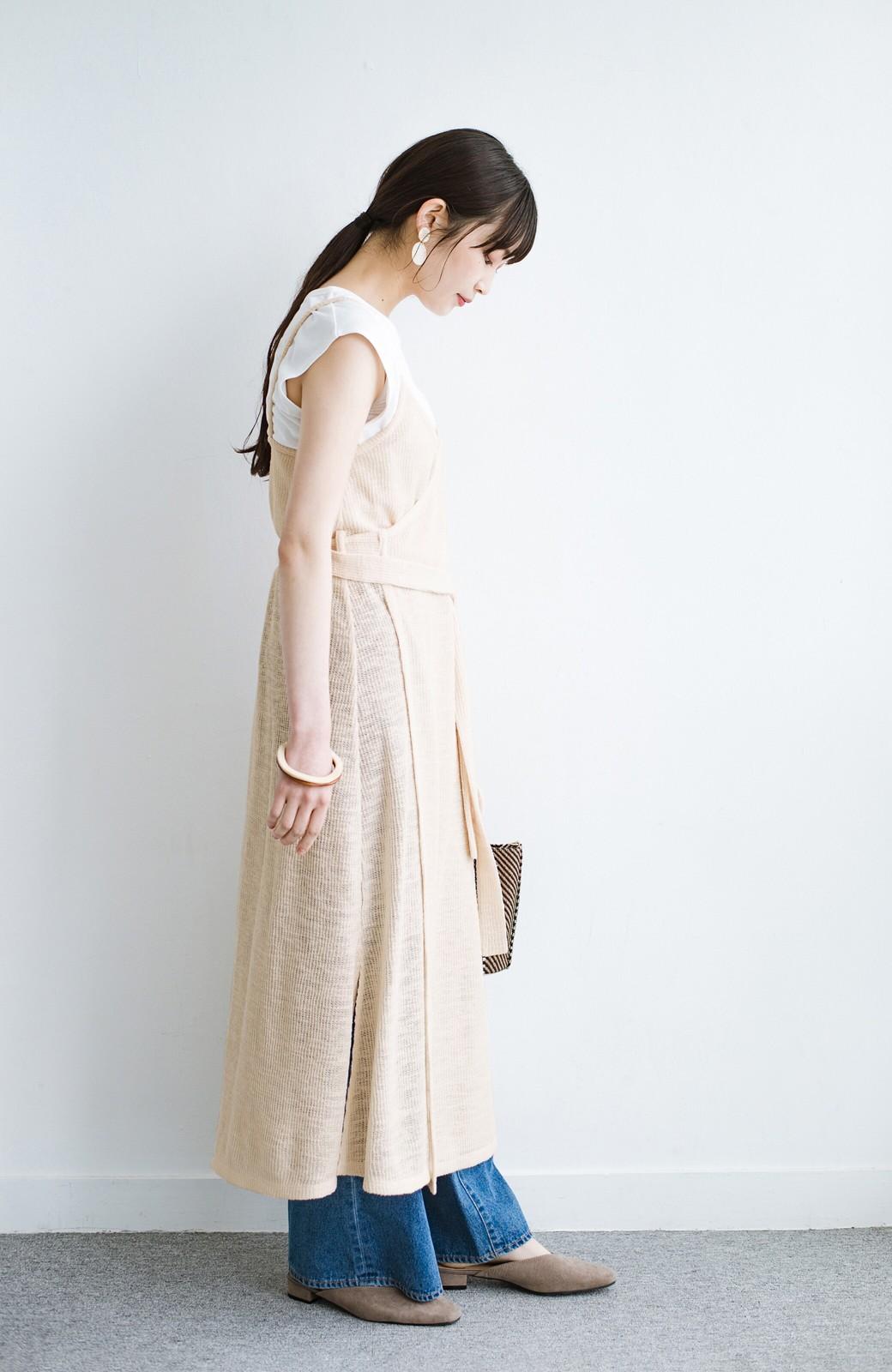 haco! 合わせて着るだけで今っぽかわいい シンプルTシャツ&カシュクールキャミワンピースセット <ライトベージュ>の商品写真11
