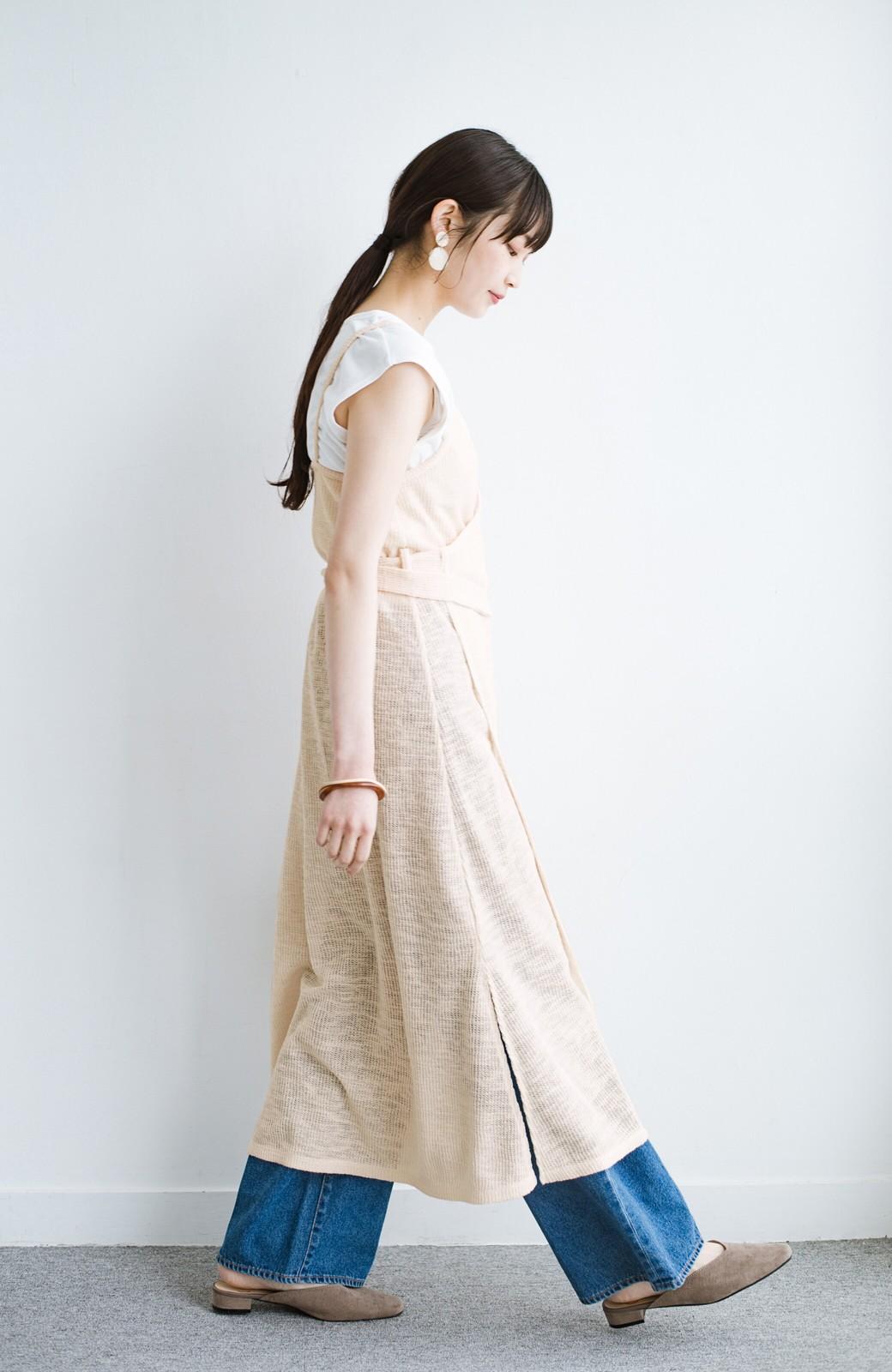 haco! 合わせて着るだけで今っぽかわいい シンプルTシャツ&カシュクールキャミワンピースセット <ライトベージュ>の商品写真12