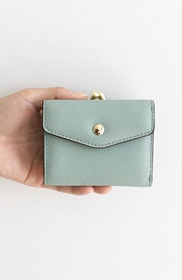 haco! Legato Largo  グレインフェイクレザー三つ折ミニ財布 <ミント>の商品写真
