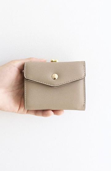 haco! Legato Largo  グレインフェイクレザー三つ折ミニ財布 <グレイッシュベージュ>の商品写真