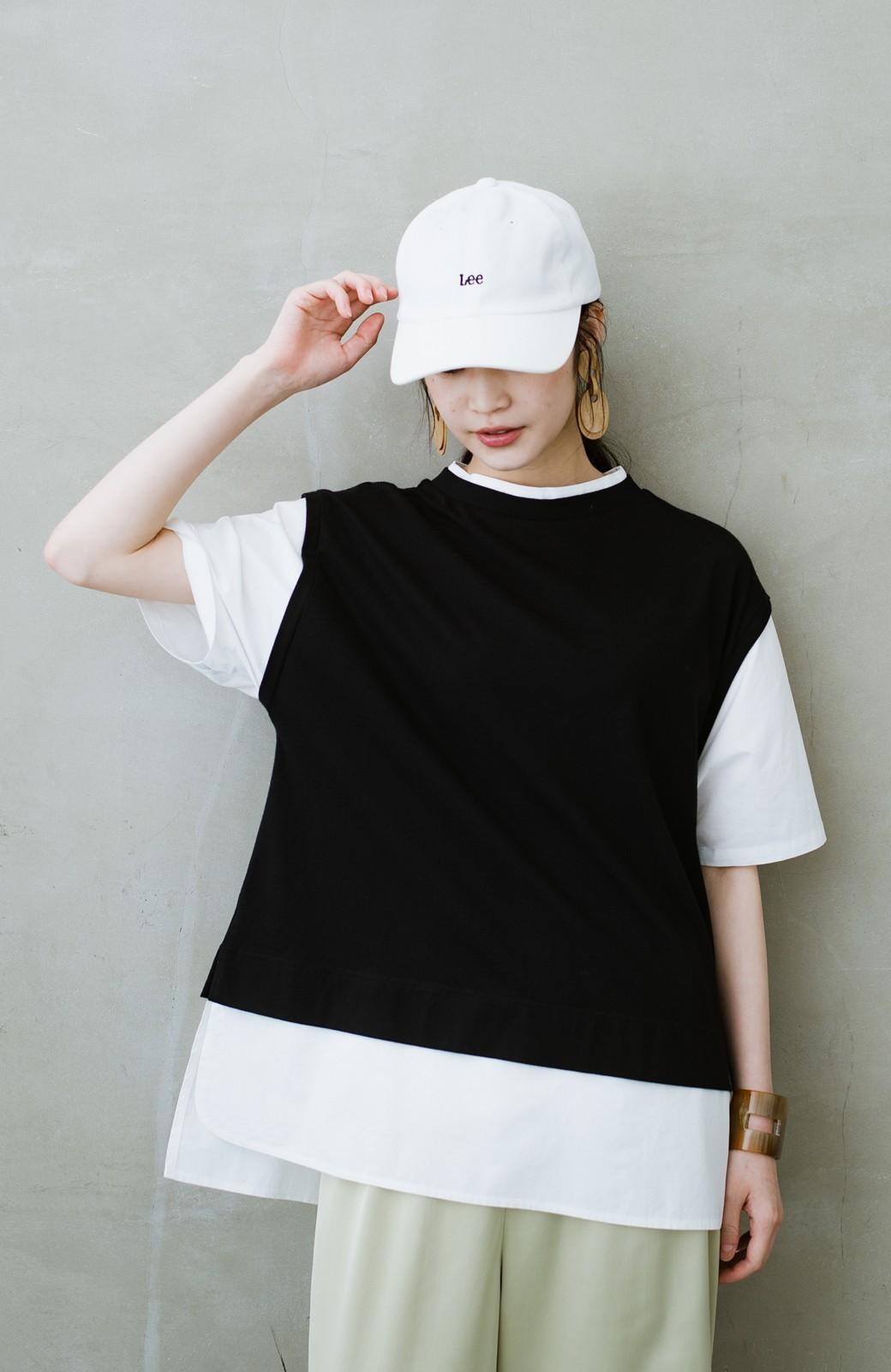 haco! こう見えて楽してます!1枚できっちり可愛いシャツ重ね着風トップス <ブラック>の商品写真19