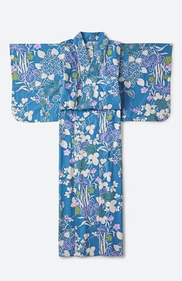 haco! ひでや工房 京都の綿ちりめん浴衣 <ライトブルー>の商品写真