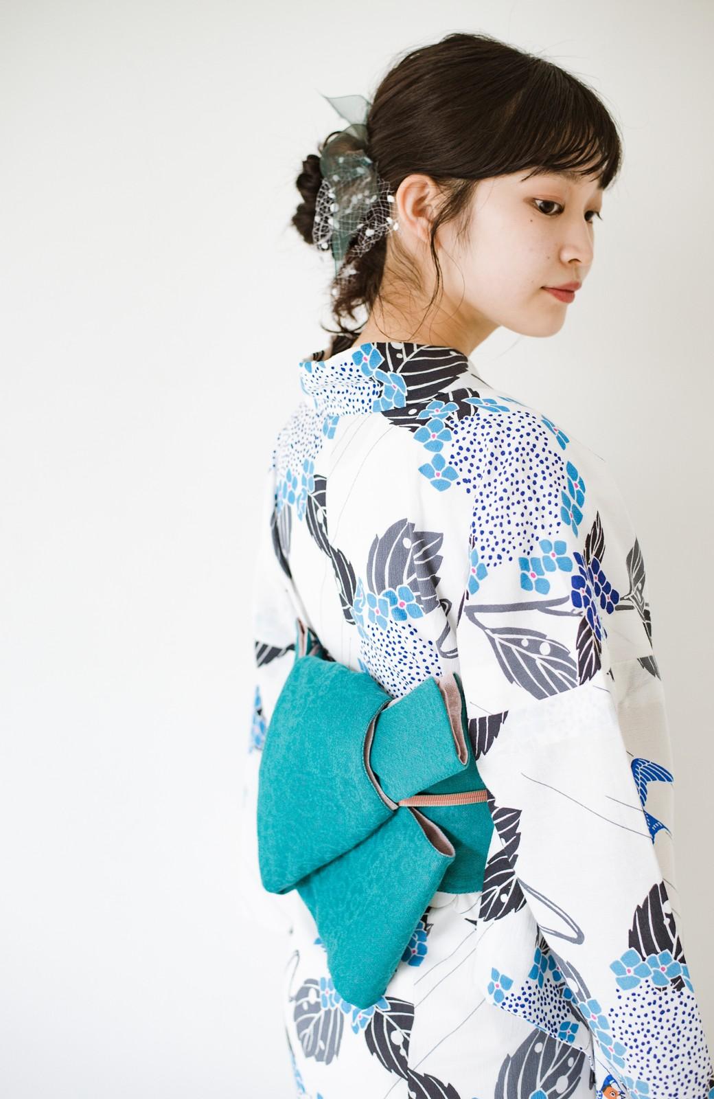 haco! ひでや工房 京都のからみ織ジャカードリバーシブル帯 <グリーン×ピンク>の商品写真11