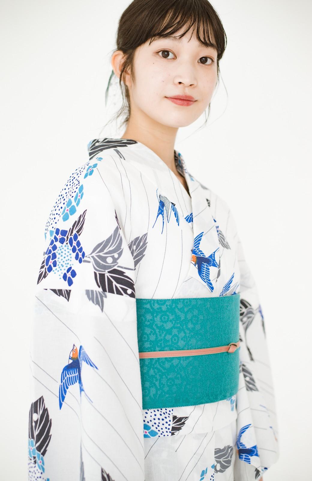 haco! ひでや工房 京都のからみ織ジャカードリバーシブル帯 <グリーン×ピンク>の商品写真13