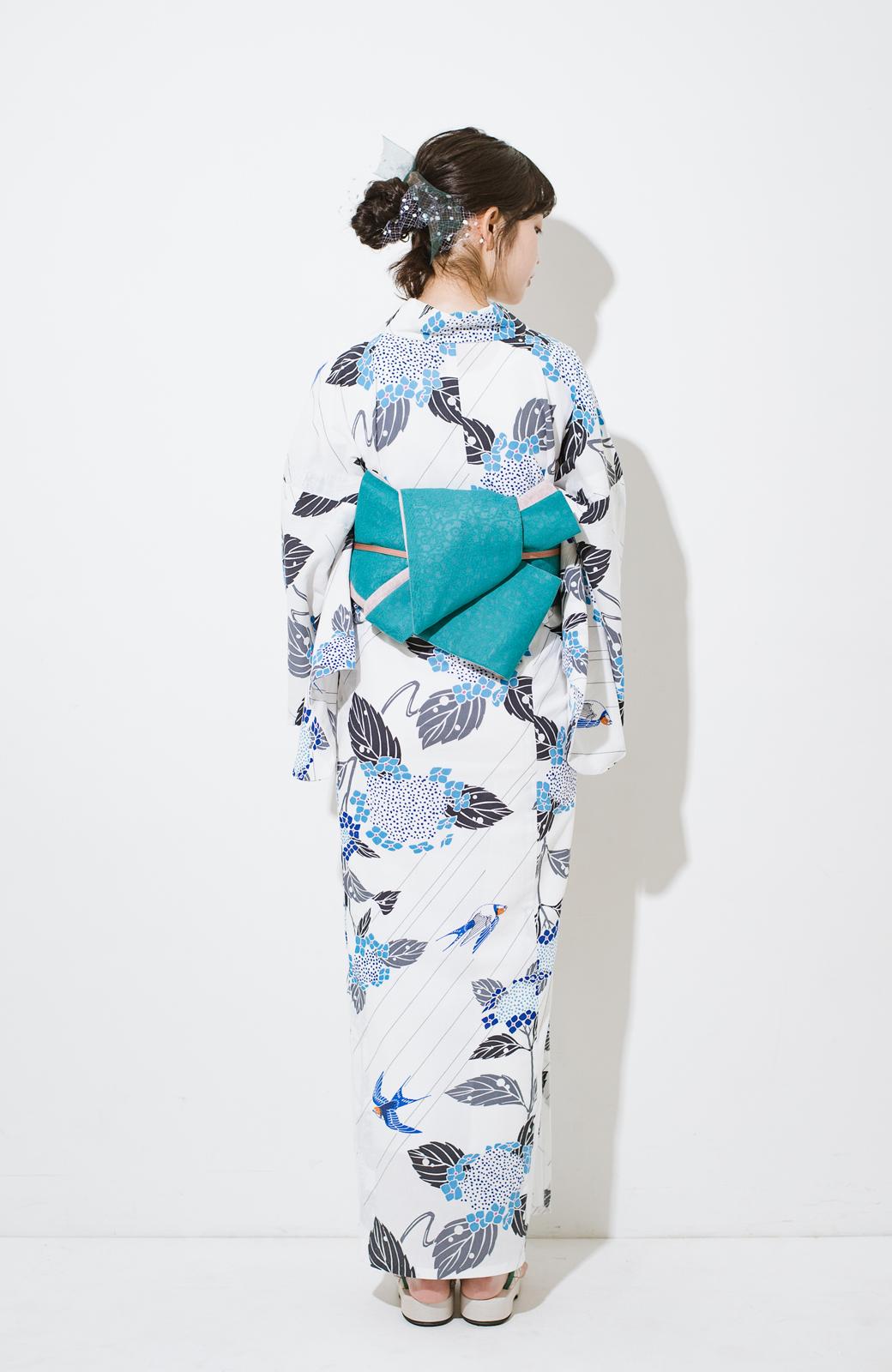 haco! ひでや工房 京都のからみ織ジャカードリバーシブル帯 <グリーン×ピンク>の商品写真10