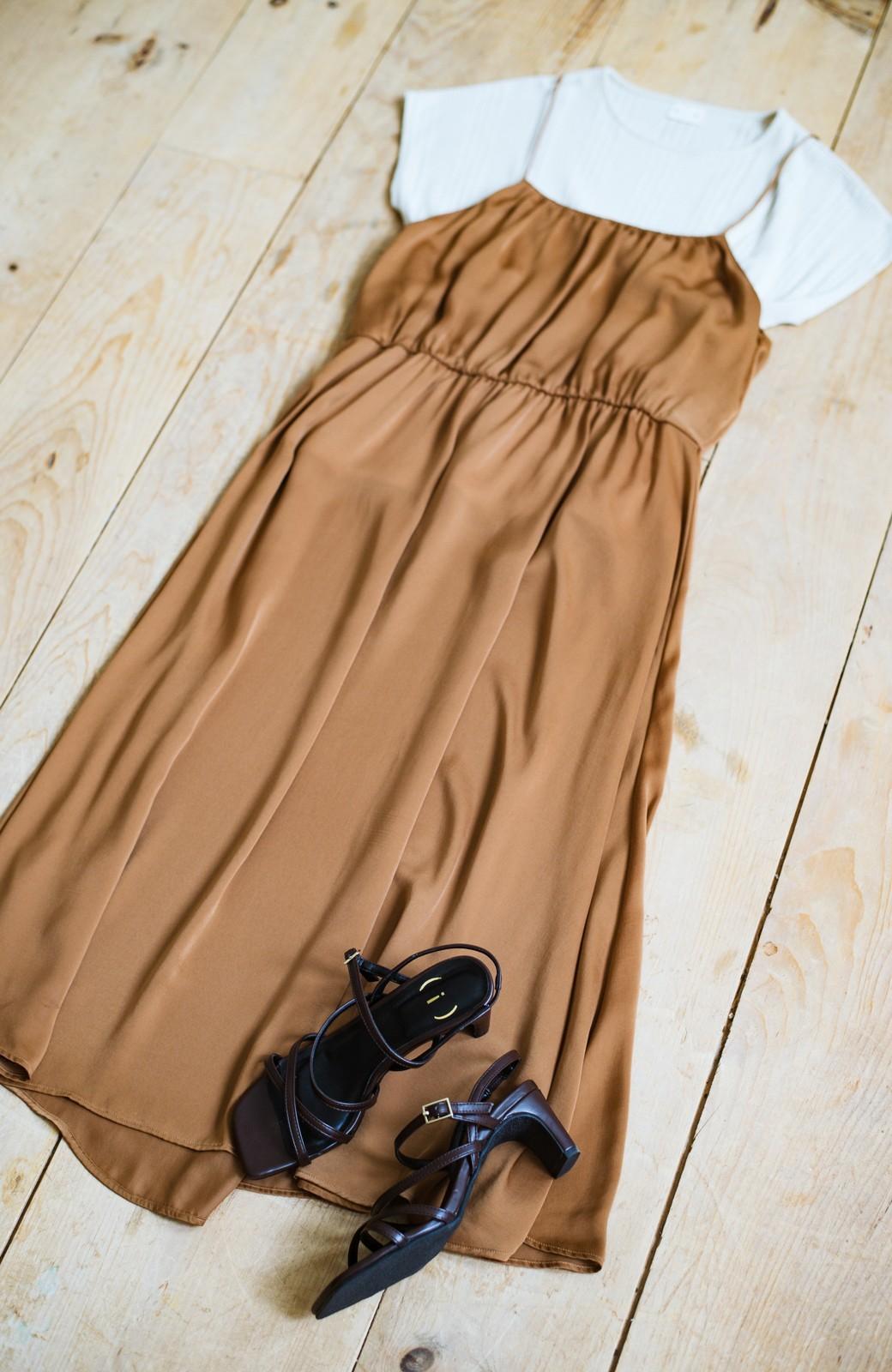 haco! 玄関でこれを履くだけでコーデが女っぽく&今っぽくまとまる 華奢な紐のヒールサンダル <ブラウン>の商品写真4