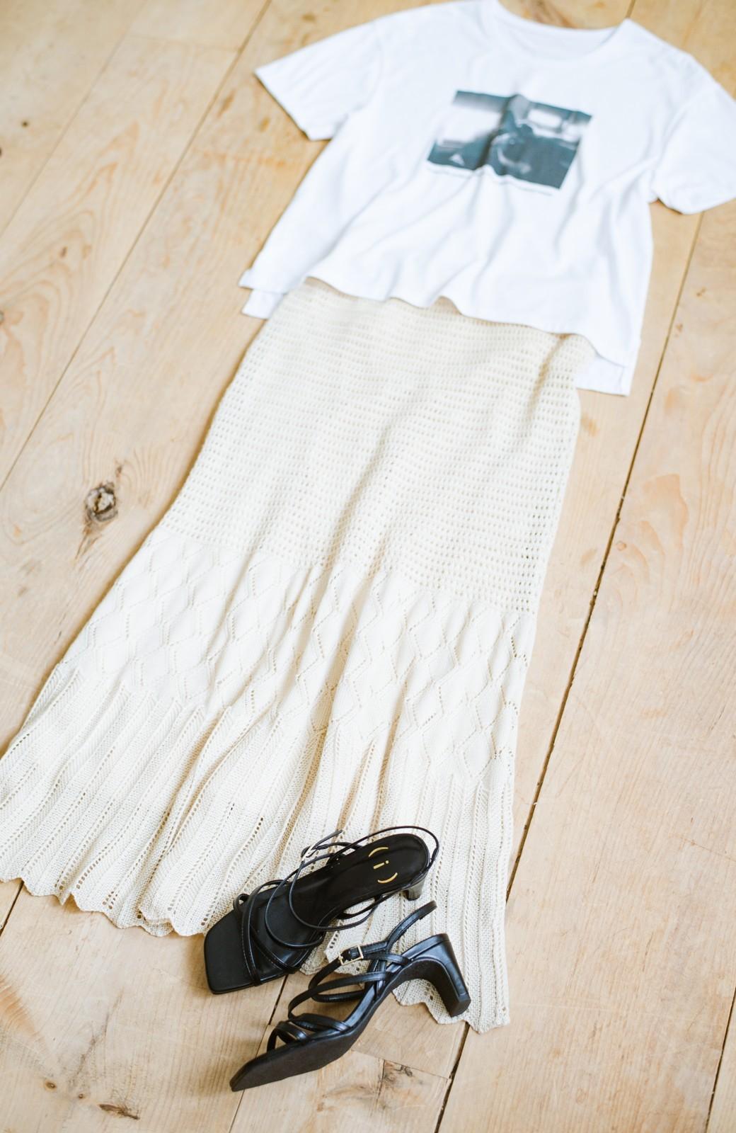haco! 玄関でこれを履くだけでコーデが女っぽく&今っぽくまとまる 華奢な紐のヒールサンダル <ブラック>の商品写真3