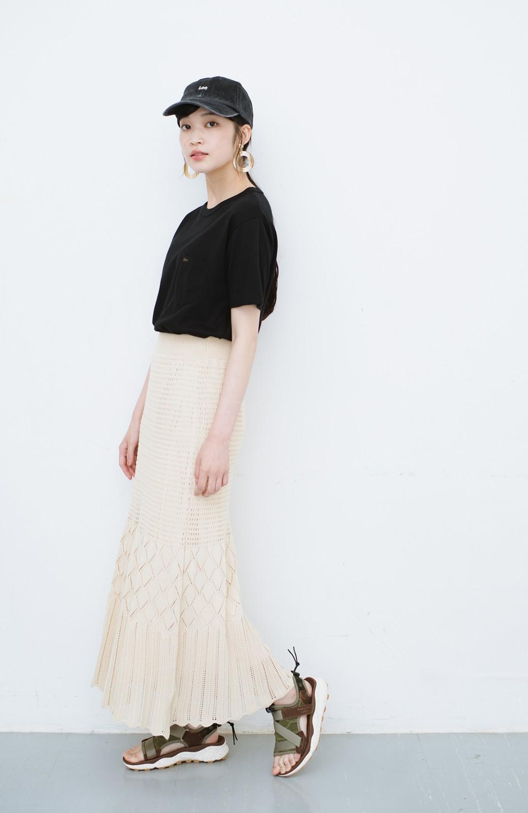 haco! 単品はもちろん重ね着してもかわいさが増す!透かし編みマーメイドスカート <アイボリー>の商品写真22