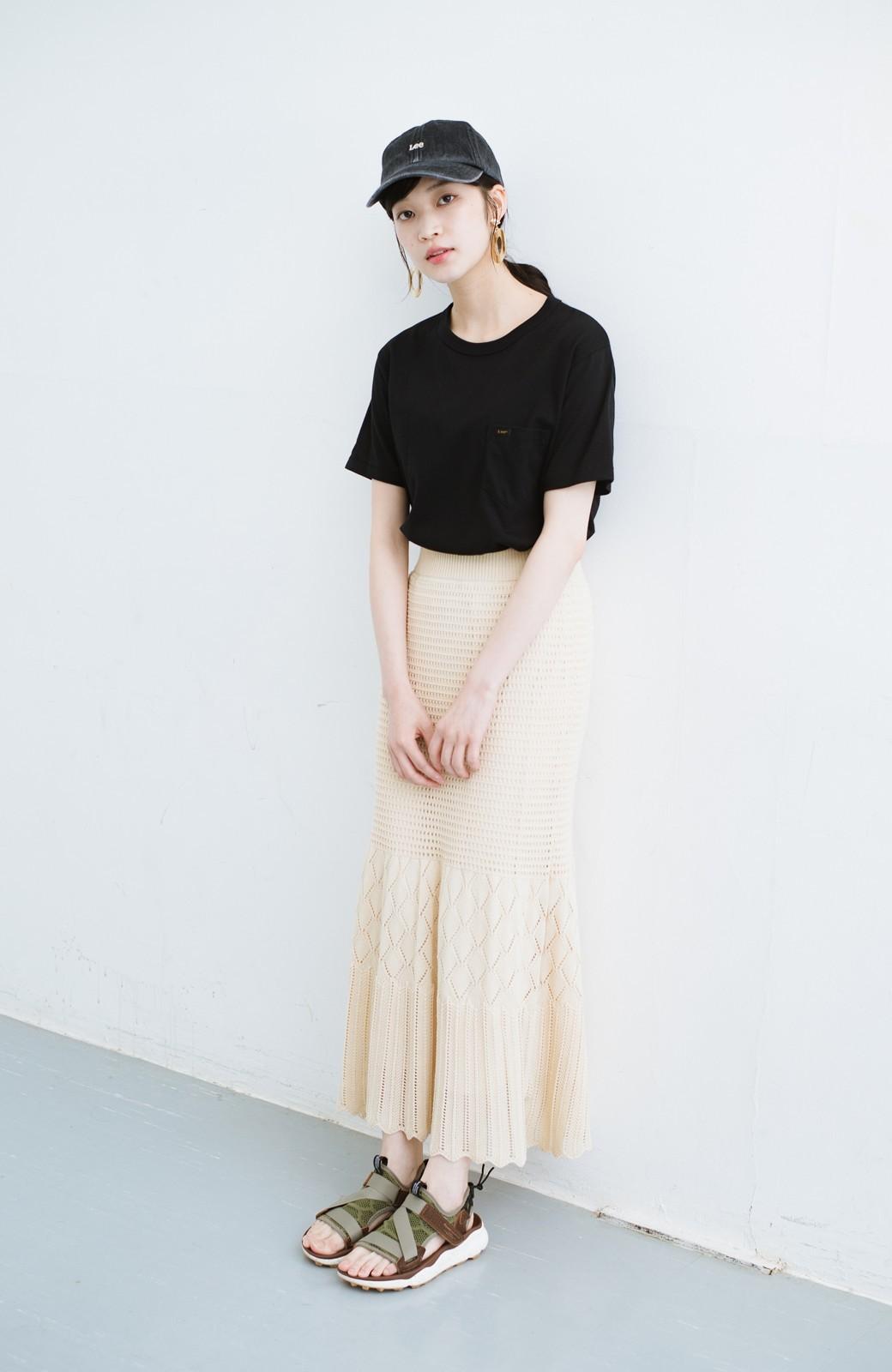 haco! 単品はもちろん重ね着してもかわいさが増す!透かし編みマーメイドスカート <アイボリー>の商品写真23