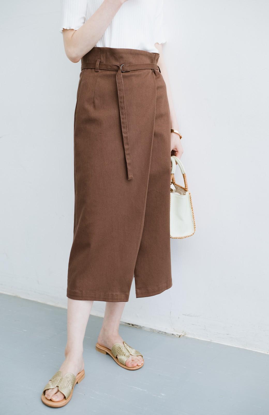 haco! 露出せずとも女っぽい すっきりシルエットが自慢のシンプルタイトスカート <ブラウン>の商品写真1