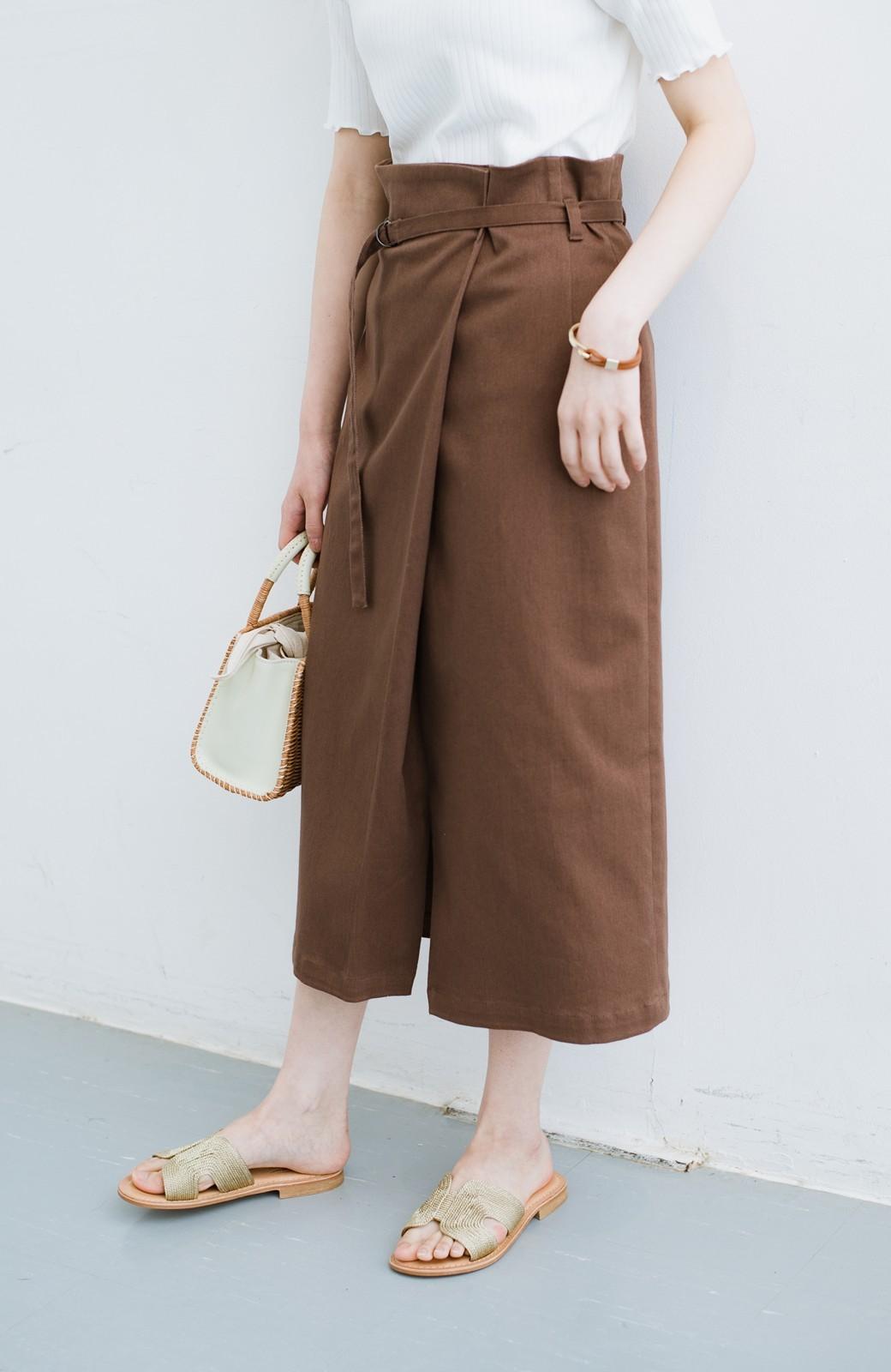 haco! 露出せずとも女っぽい すっきりシルエットが自慢のシンプルタイトスカート <ブラウン>の商品写真2