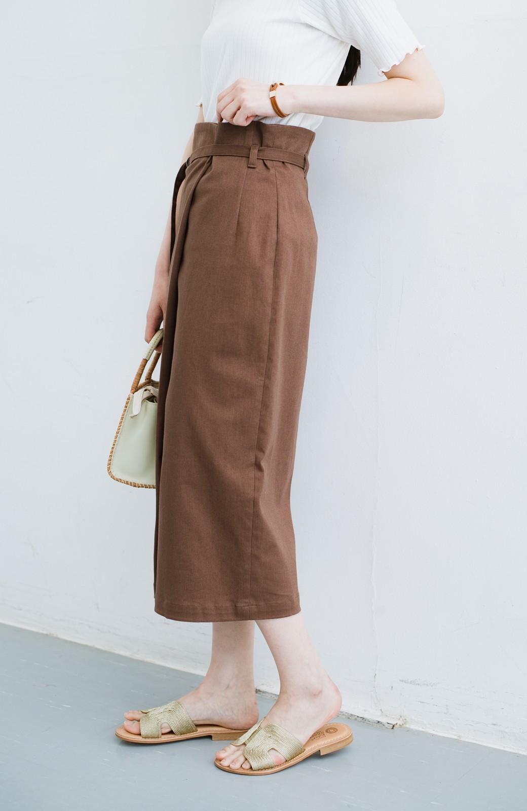 haco! 露出せずとも女っぽい すっきりシルエットが自慢のシンプルタイトスカート <ブラウン>の商品写真23
