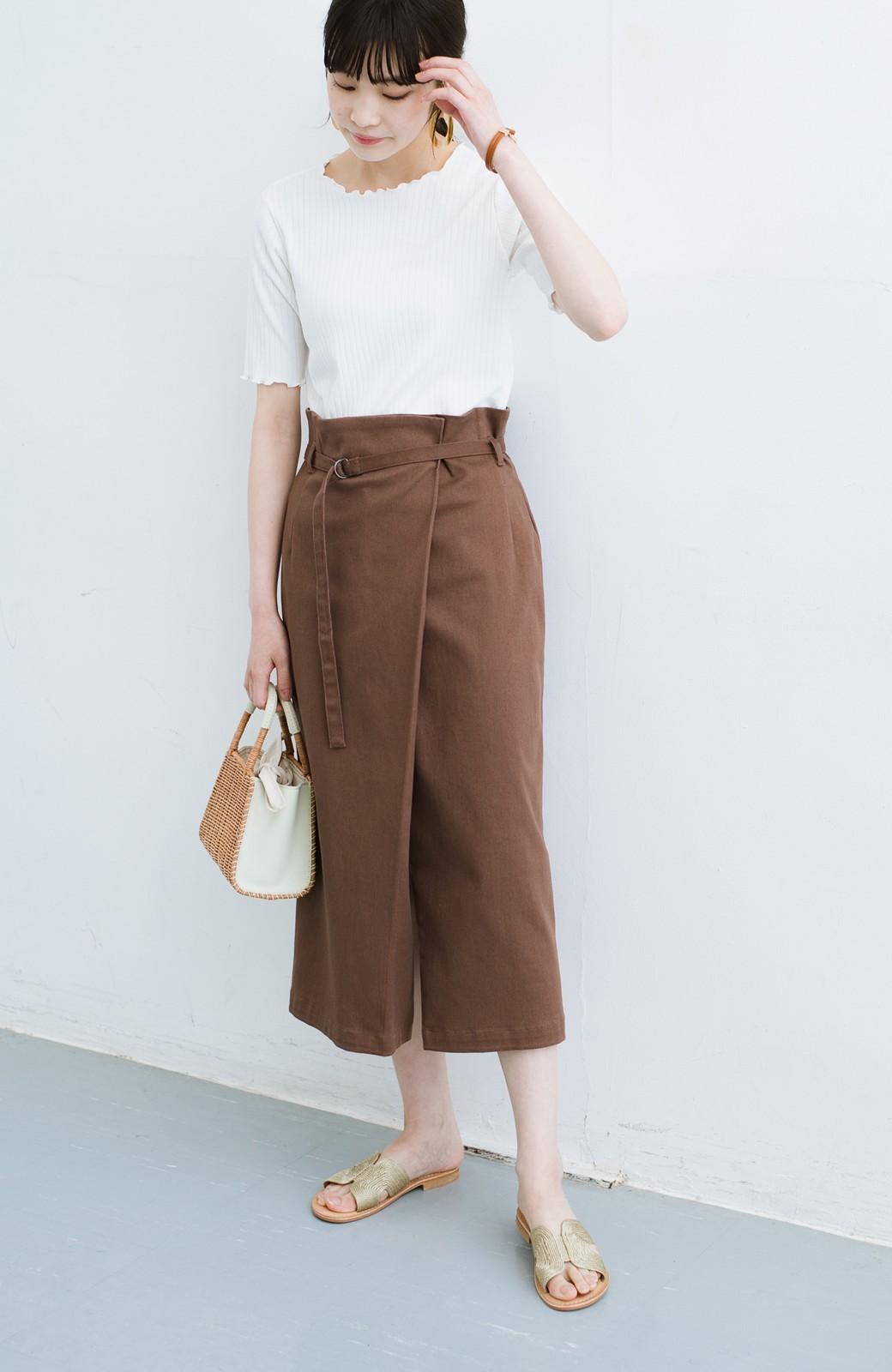 haco! 露出せずとも女っぽい すっきりシルエットが自慢のシンプルタイトスカート <ブラウン>の商品写真24