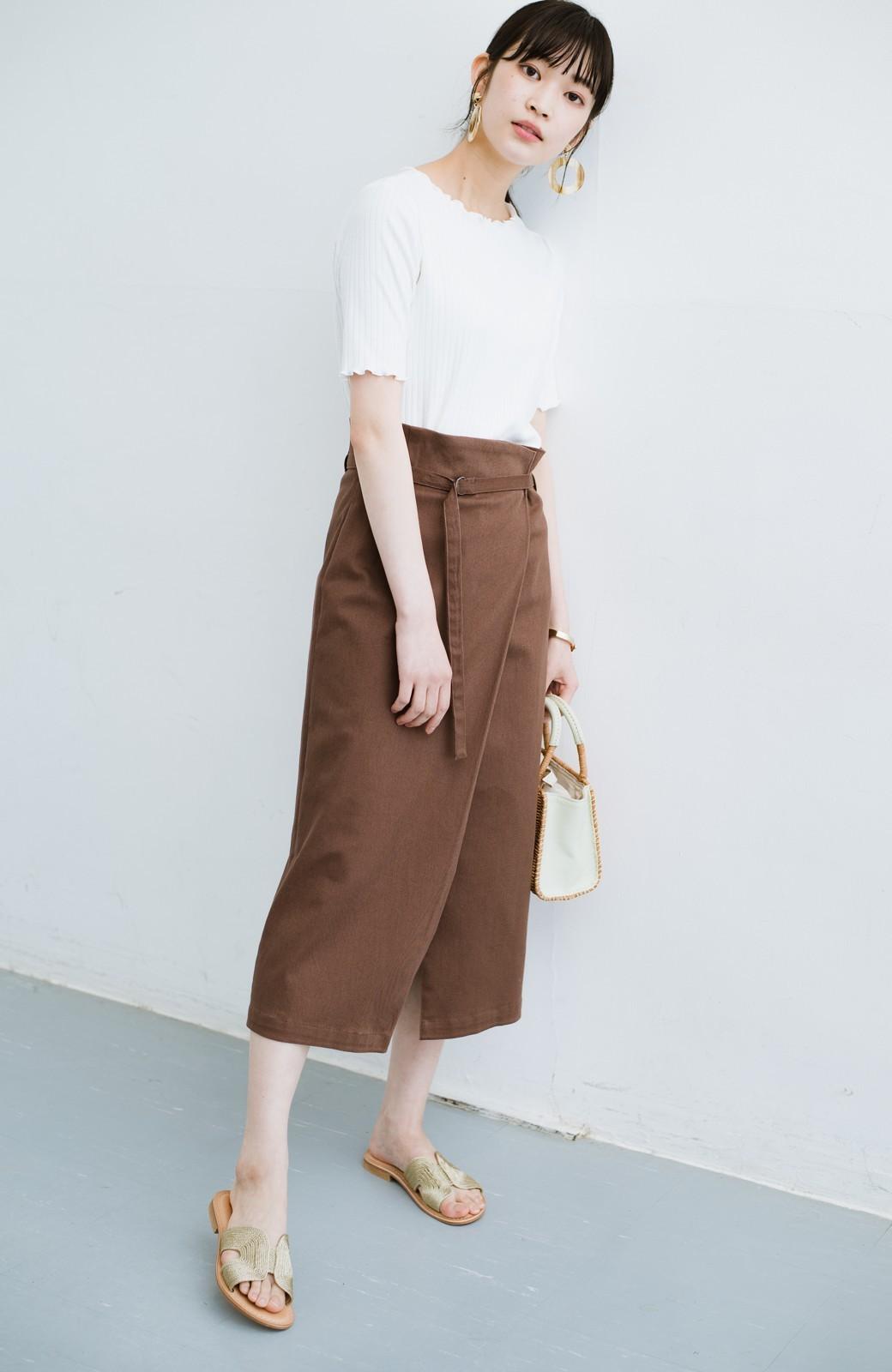 haco! 露出せずとも女っぽい すっきりシルエットが自慢のシンプルタイトスカート <ブラウン>の商品写真25