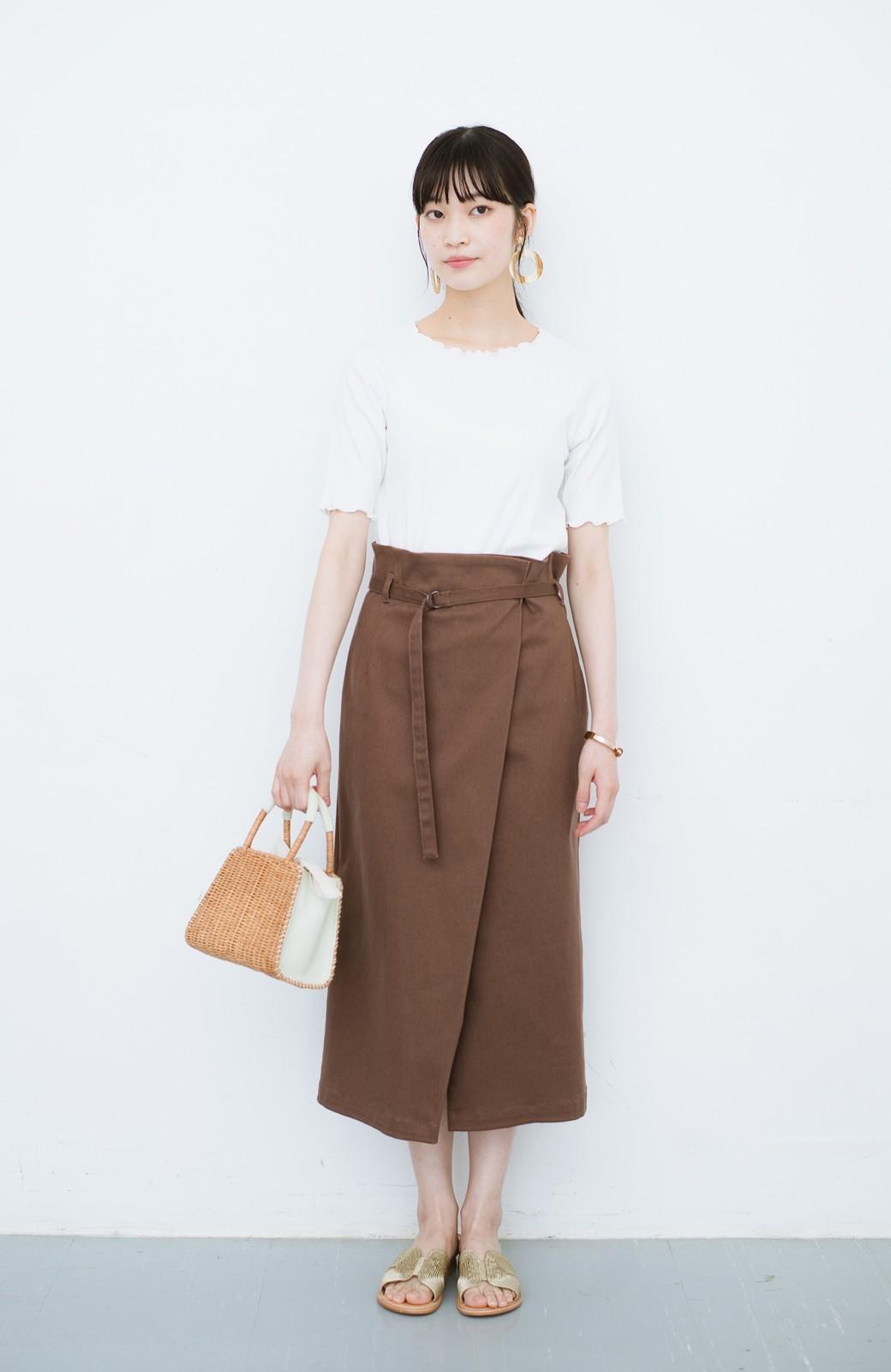 haco! 露出せずとも女っぽい すっきりシルエットが自慢のシンプルタイトスカート <ブラウン>の商品写真12