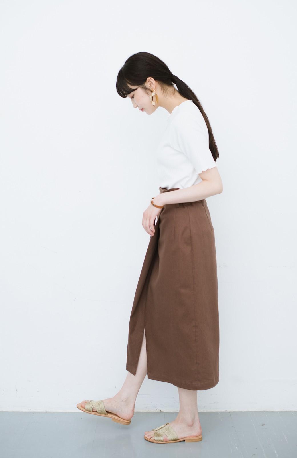 haco! 露出せずとも女っぽい すっきりシルエットが自慢のシンプルタイトスカート <ブラウン>の商品写真18