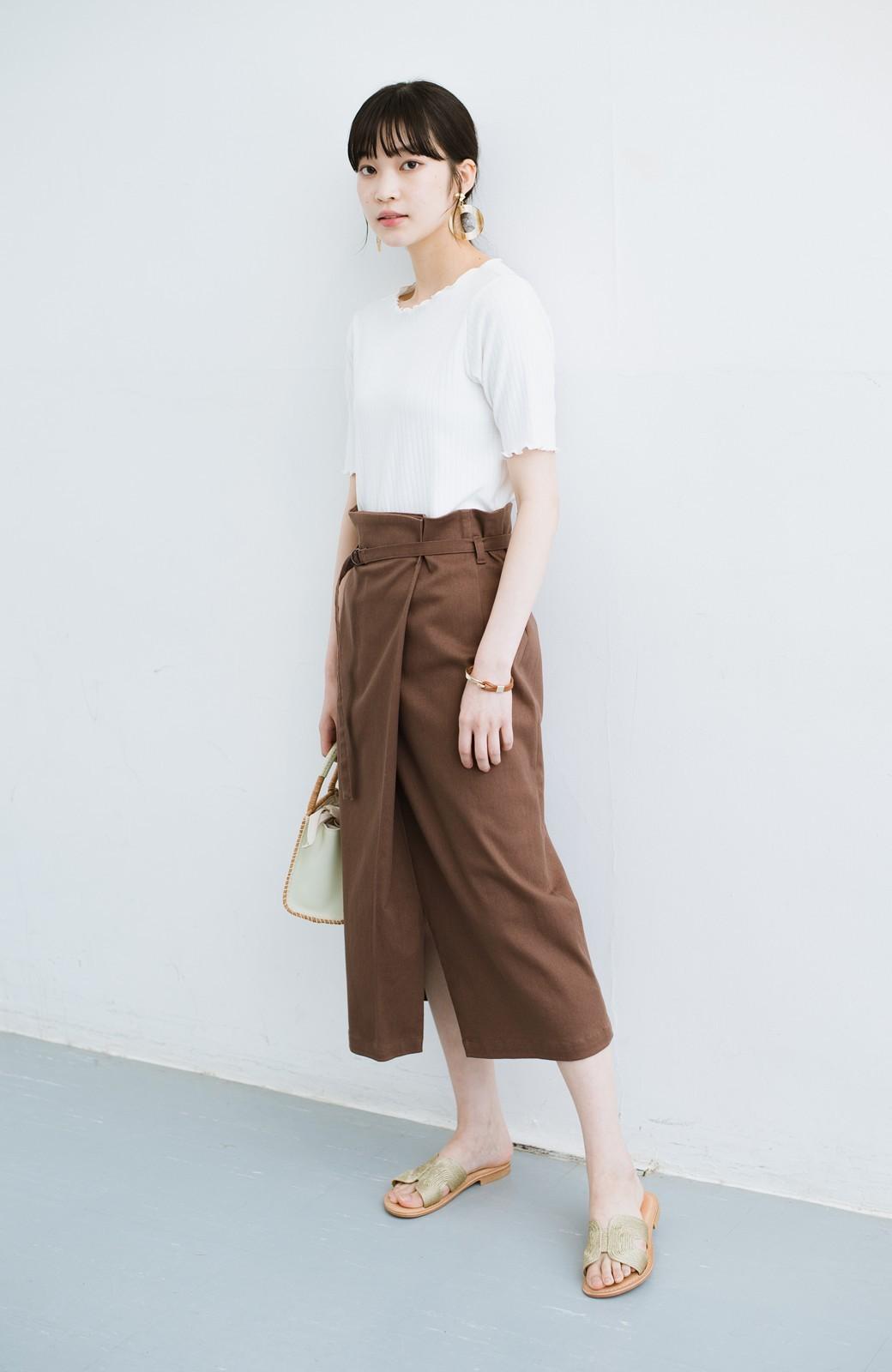 haco! 露出せずとも女っぽい すっきりシルエットが自慢のシンプルタイトスカート <ブラウン>の商品写真13