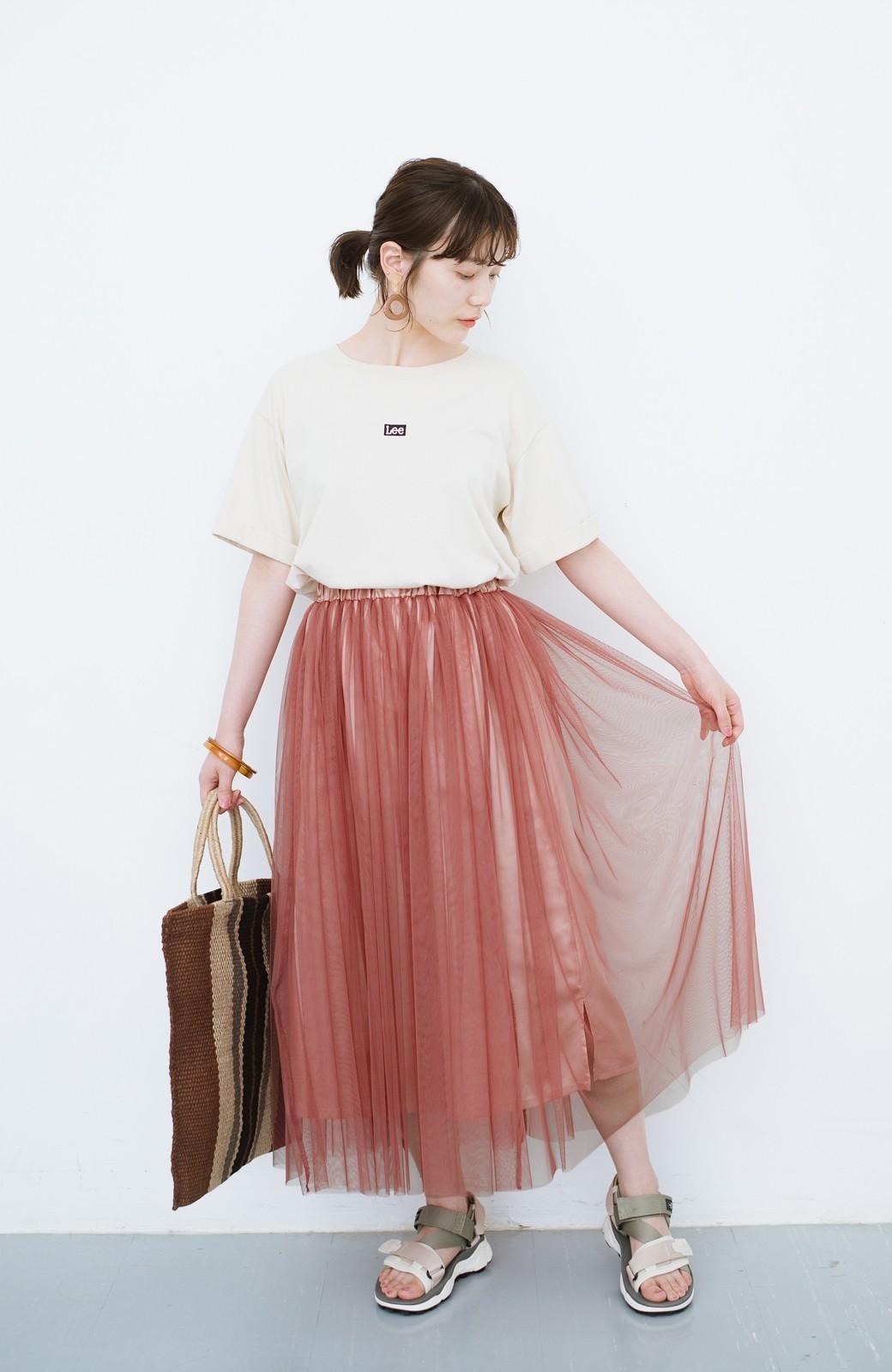 haco! 着るだけでルンとした気分になる! 長ーーい季節着られてずっと使えるオトナのためのチュールスカート <ピンク>の商品写真4