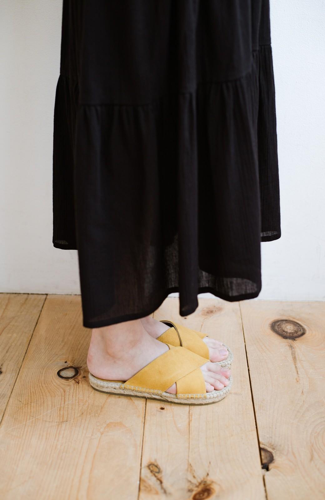 haco! hint hint 大人が気軽に履けるクロスフラットサンダル <イエロー>の商品写真3