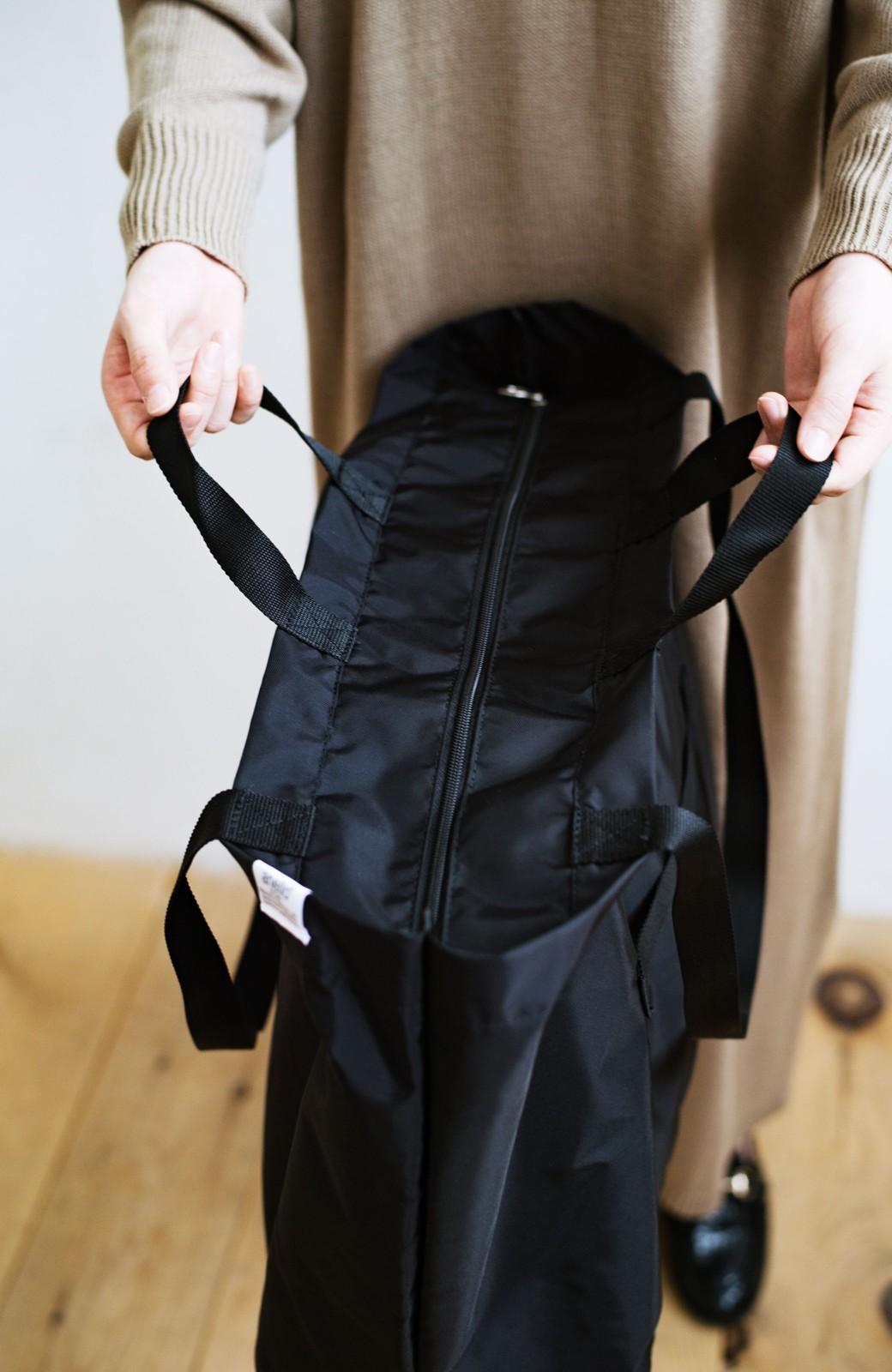 haco! anello® たためて便利な2WAYトートバッグ <ブラック>の商品写真4