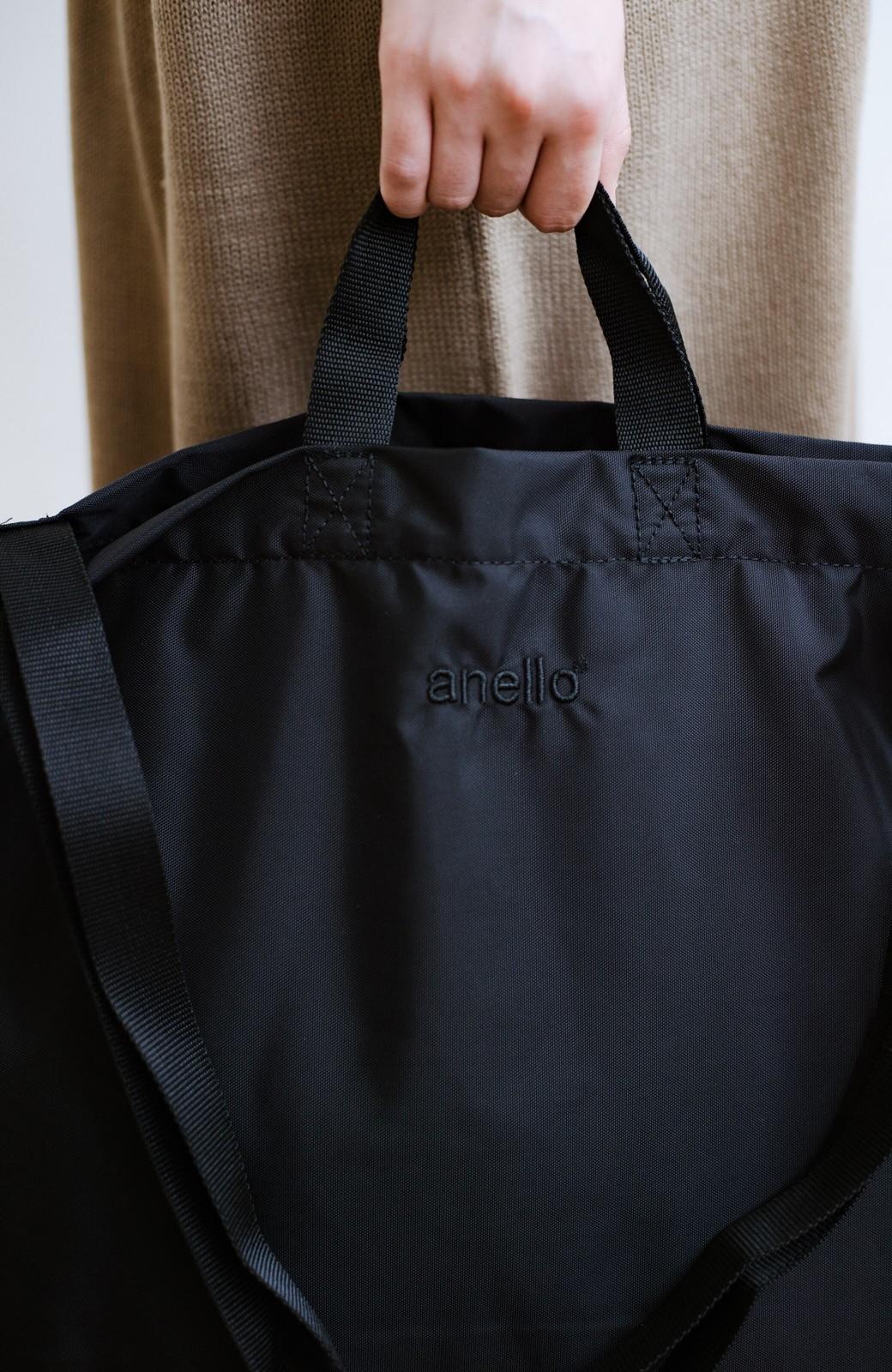 haco! anello® たためて便利な2WAYトートバッグ <ブラック>の商品写真6