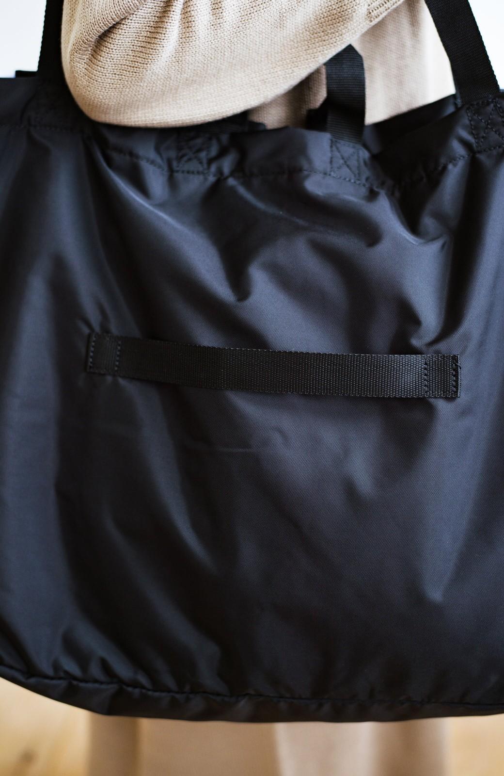 haco! anello® たためて便利な2WAYトートバッグ <ブラック>の商品写真7