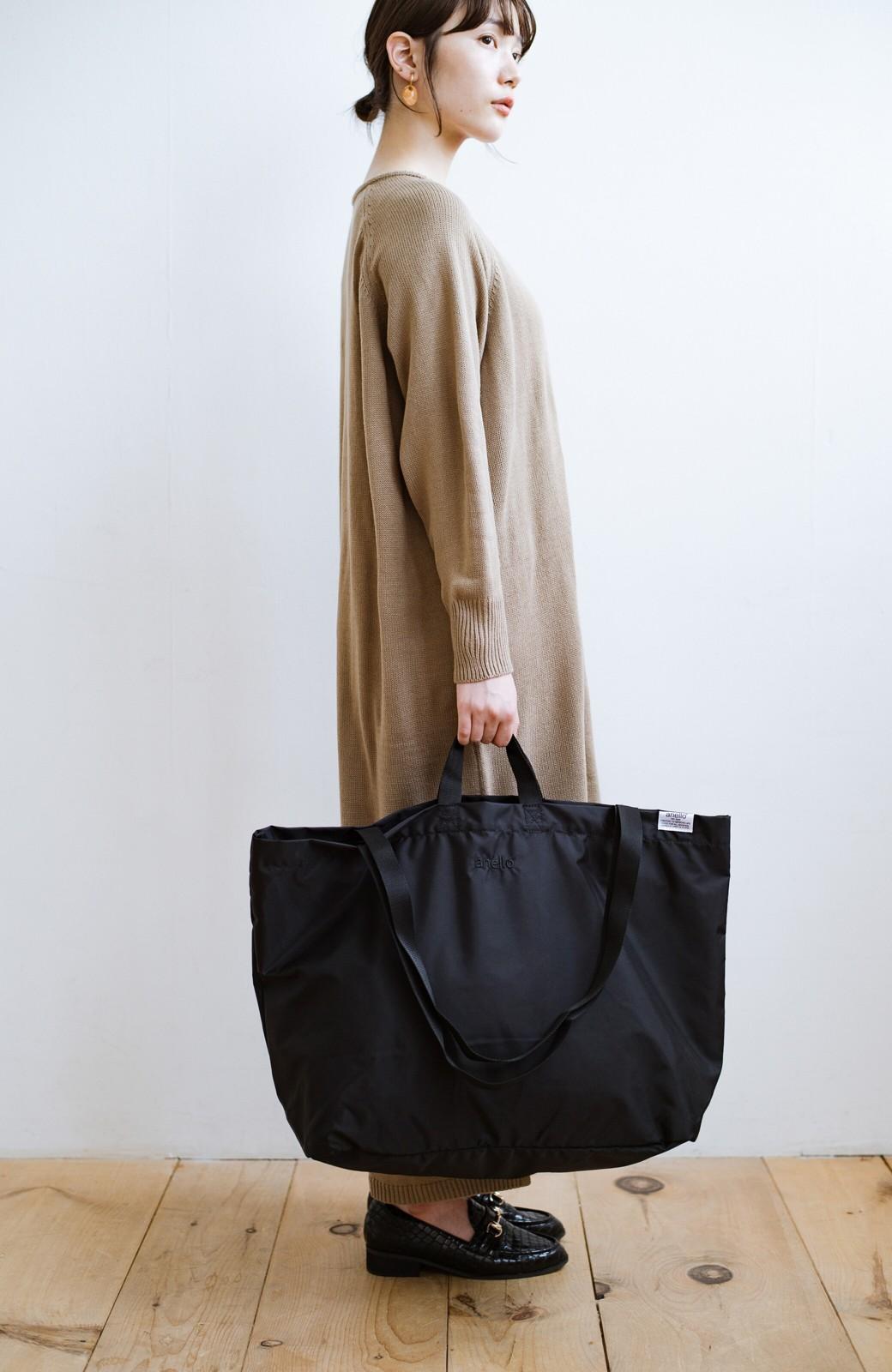 haco! anello® たためて便利な2WAYトートバッグ <ブラック>の商品写真3