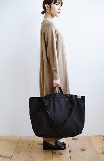 haco! anello® たためて便利な2WAYトートバッグ <ブラック>の商品写真