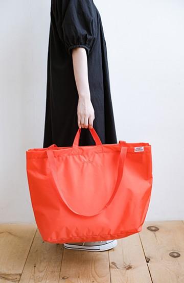 haco! anello® たためて便利な2WAYトートバッグ<オレンジ>の商品写真