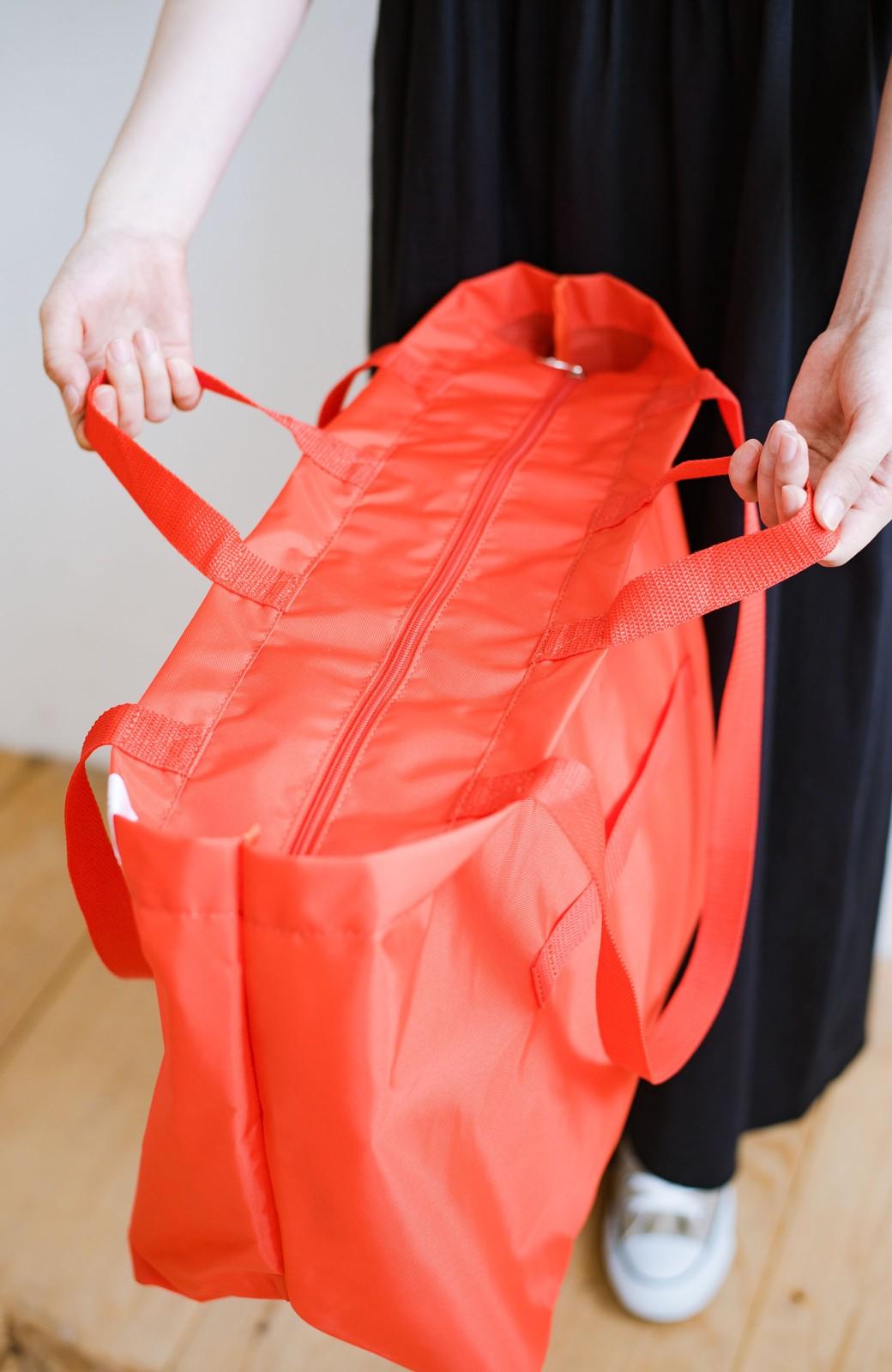 haco! anello® たためて便利な2WAYトートバッグ <オレンジ>の商品写真5