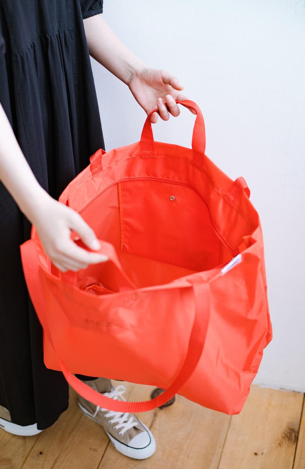 haco! anello® たためて便利な2WAYトートバッグ <オレンジ>の商品写真6