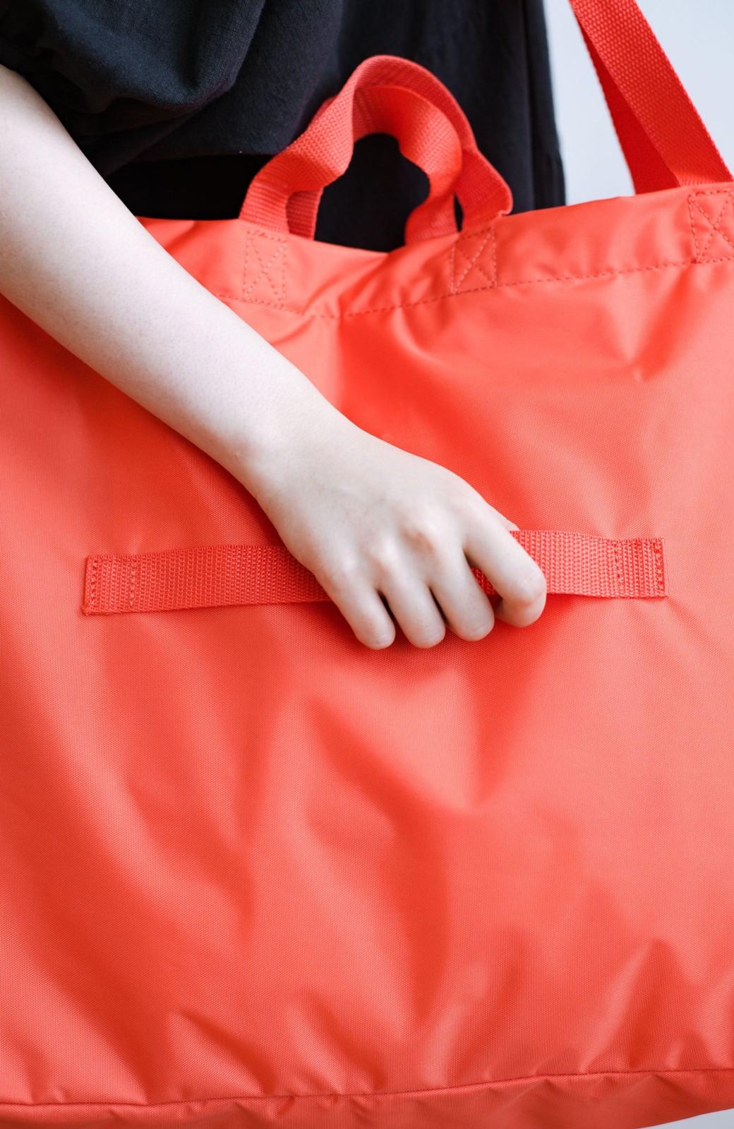 haco! anello® たためて便利な2WAYトートバッグ <オレンジ>の商品写真9