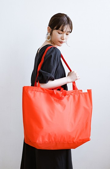 haco! anello® たためて便利な2WAYトートバッグ <オレンジ>の商品写真