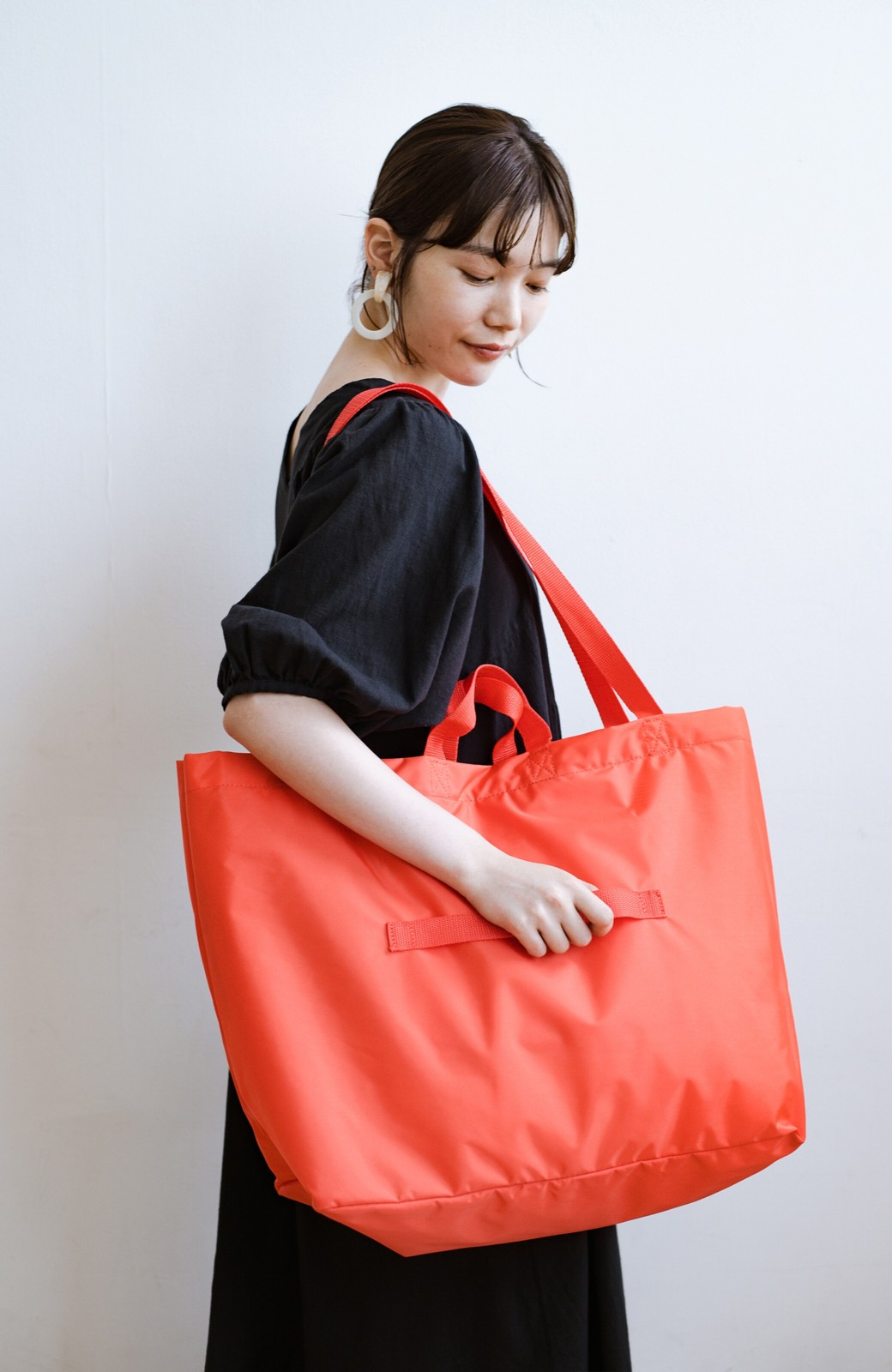 haco! anello® たためて便利な2WAYトートバッグ <オレンジ>の商品写真16