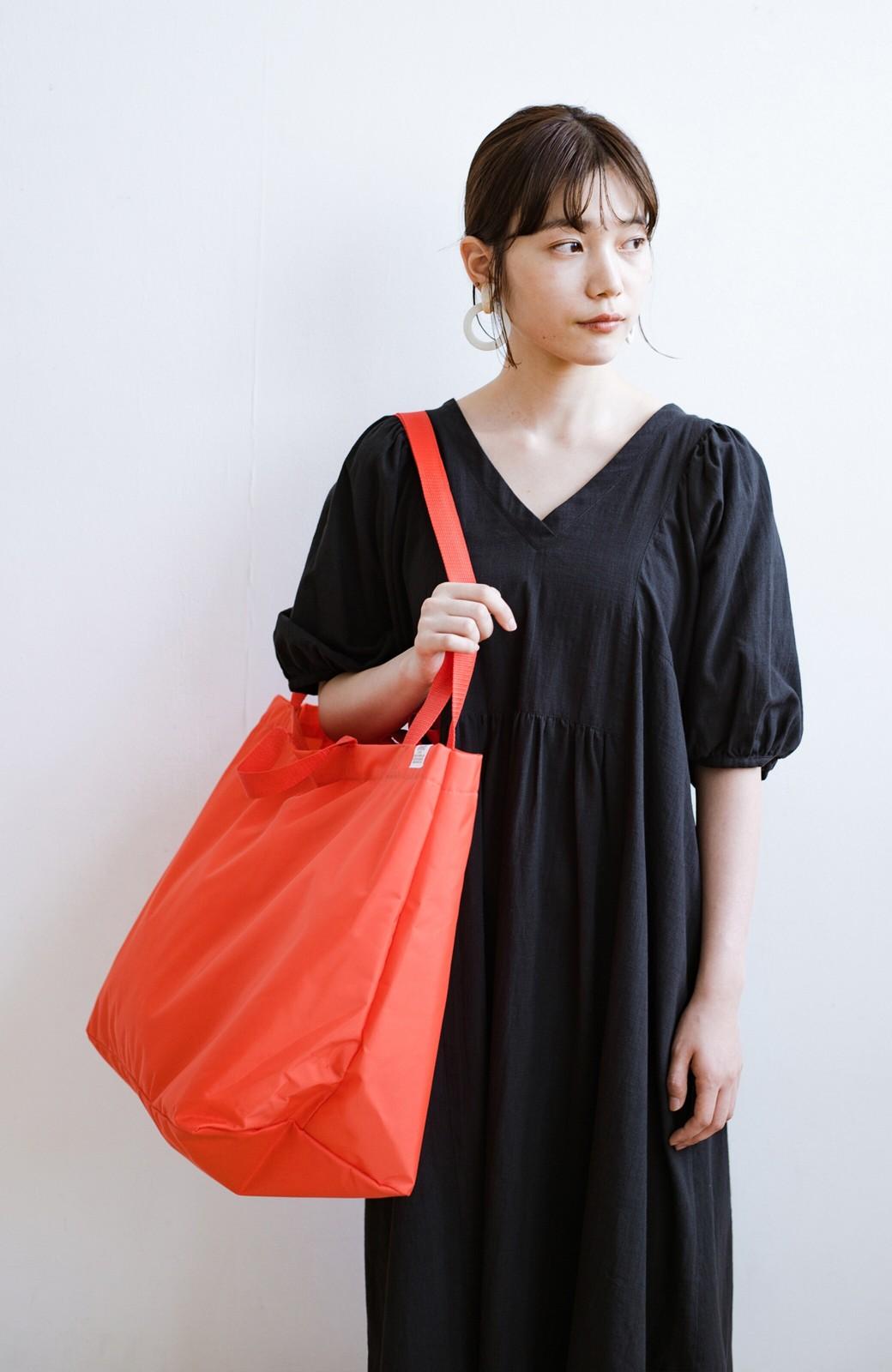 haco! anello® たためて便利な2WAYトートバッグ <オレンジ>の商品写真17