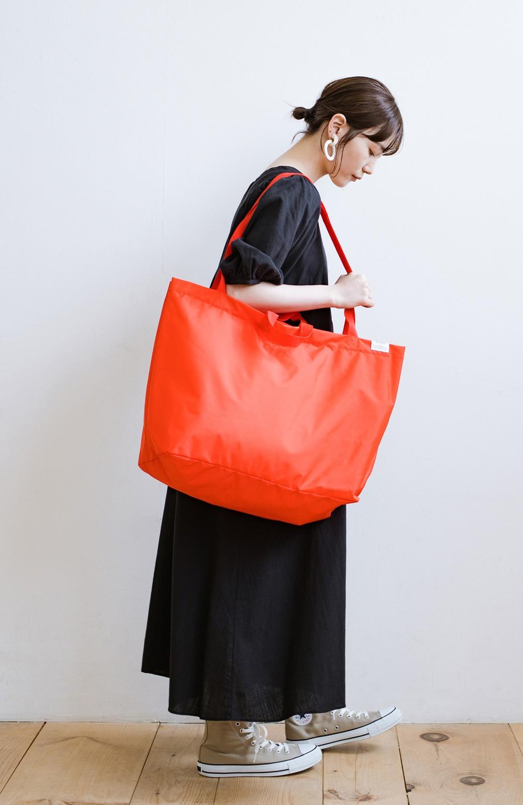 haco! anello® たためて便利な2WAYトートバッグ <オレンジ>の商品写真12