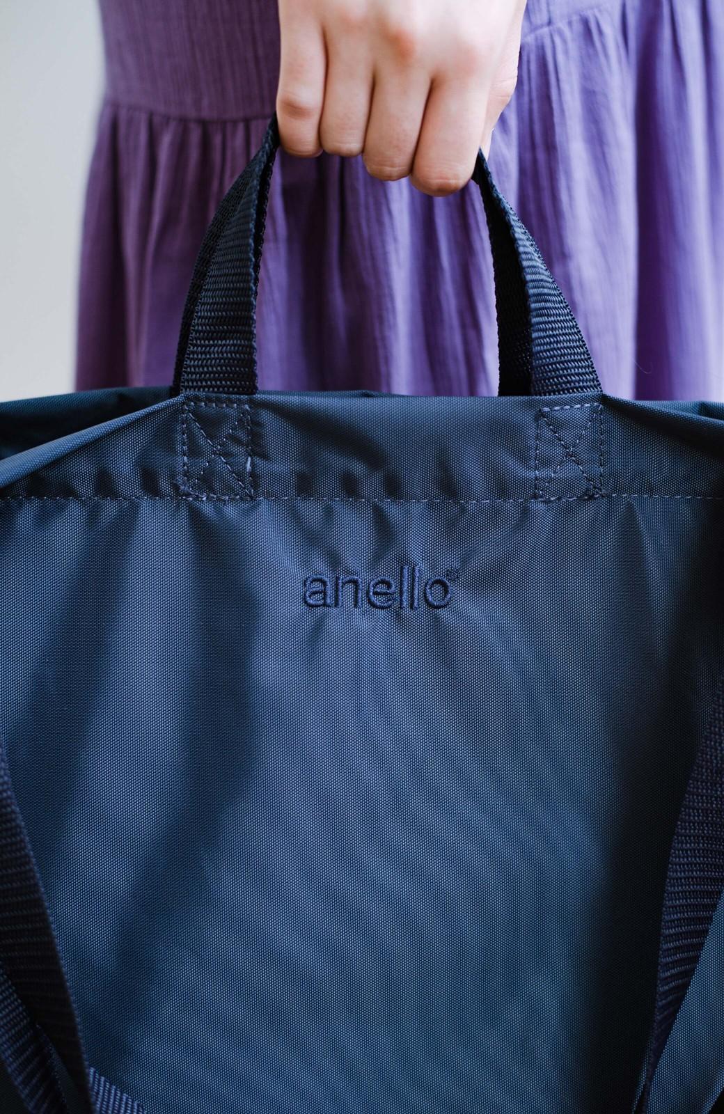 haco! anello® たためて便利な2WAYトートバッグ <ダークネイビー>の商品写真9